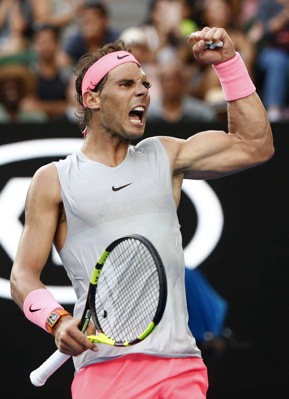 Rafael Nadal is into his tenth Australian Open quarter-final