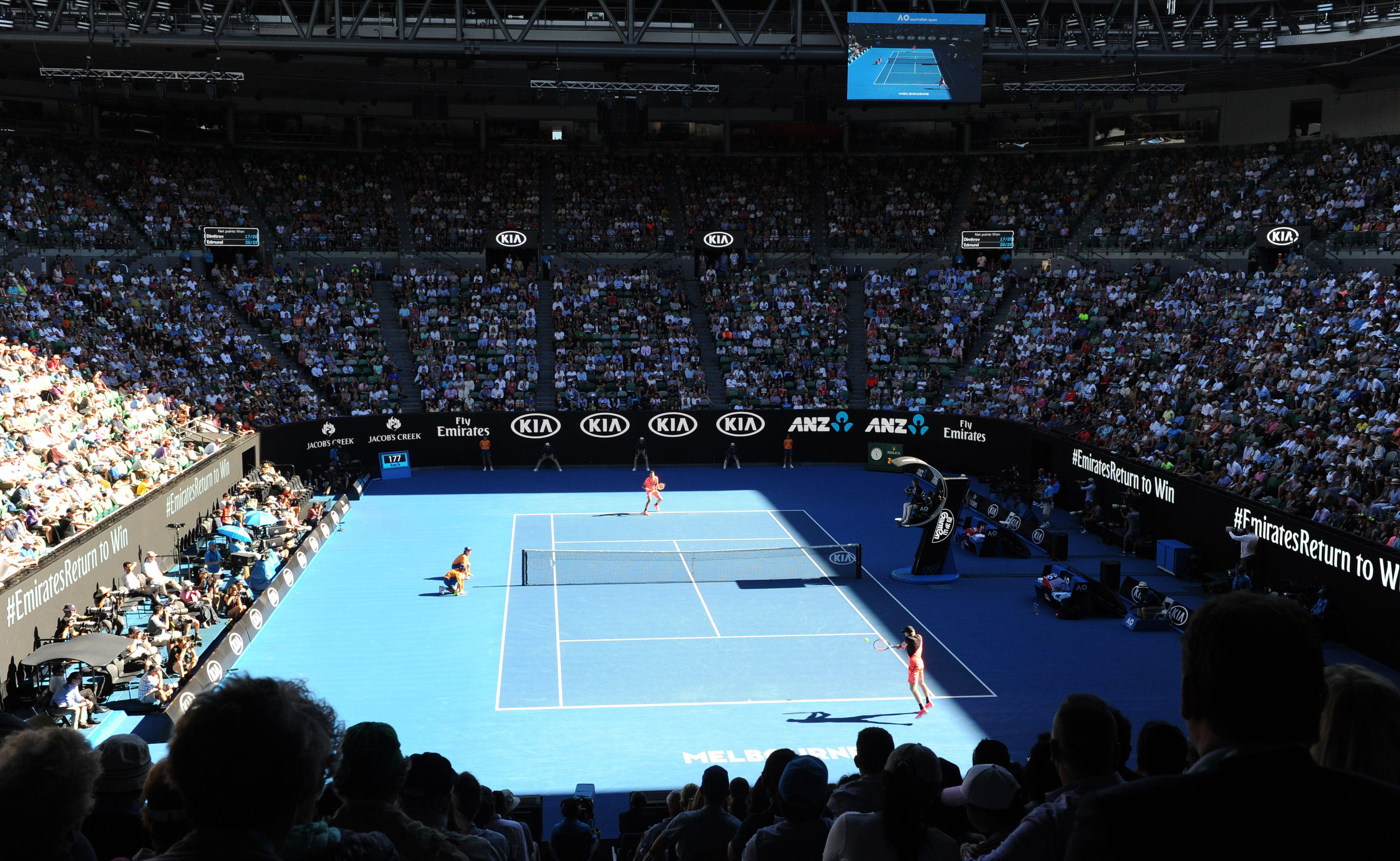 Britains Kyle Edmund dazzled in front of a packed Rod Laver Arena in Melbourne