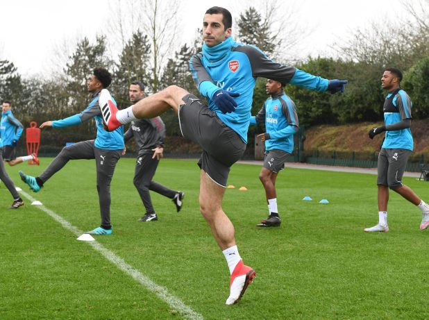 nintchdbpict000380226798 e1516718462234 - Henrikh Mkhitaryan trains with Arsenal for the first time since move from Manchester United