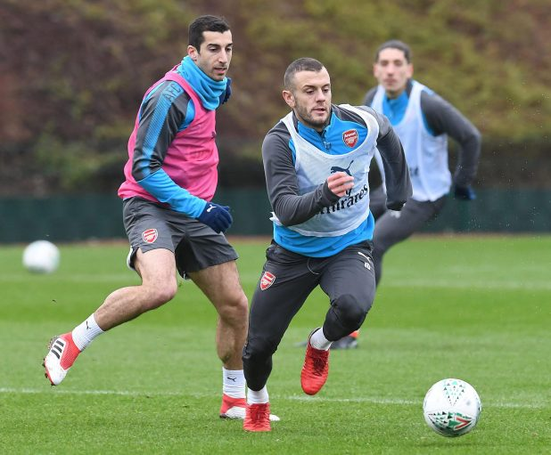 nintchdbpict000380228428 e1516717168614 - Henrikh Mkhitaryan trains with Arsenal for the first time since move from Manchester United
