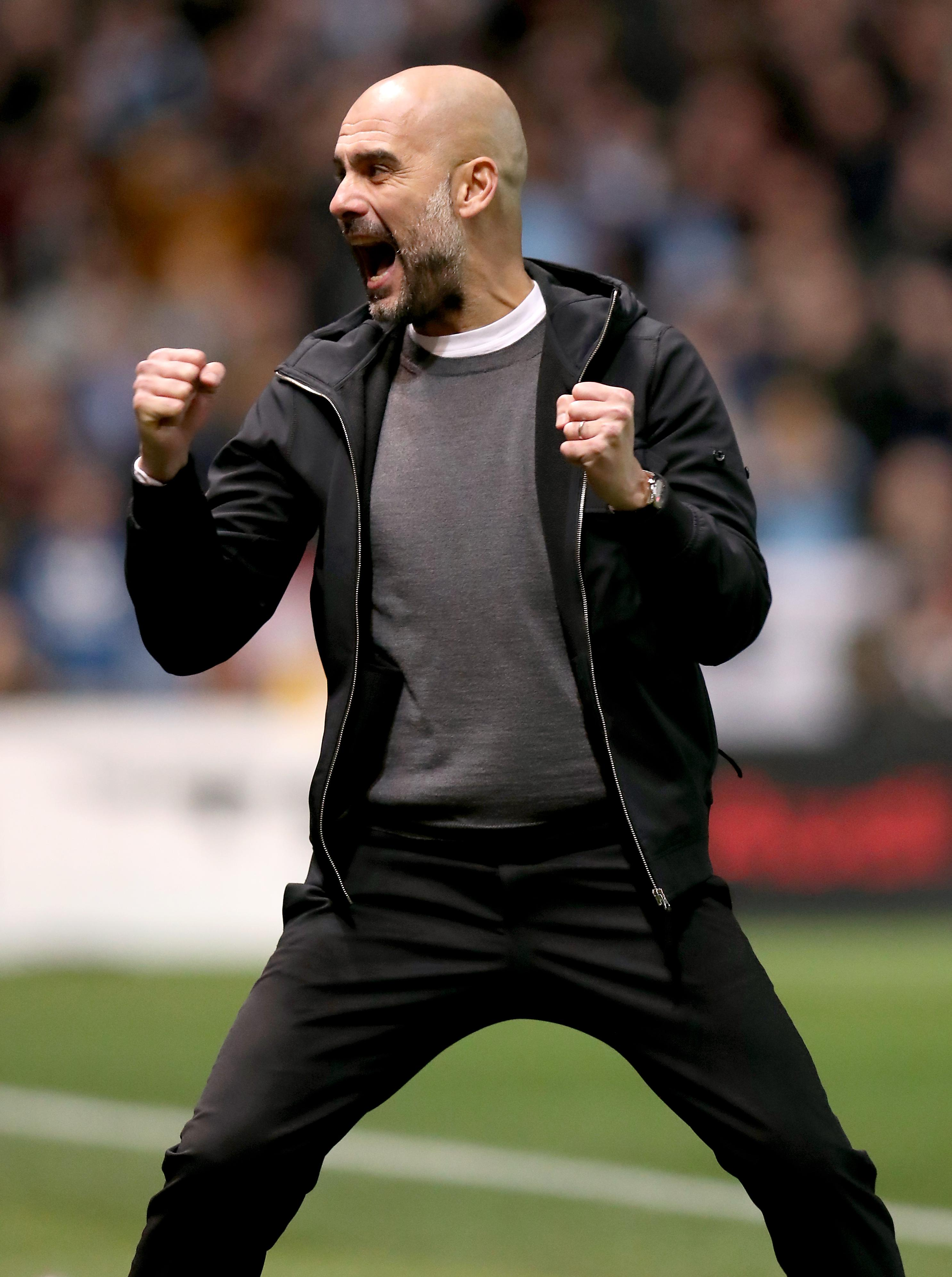 Pep Guardiola was delighted to have booked his place in the final