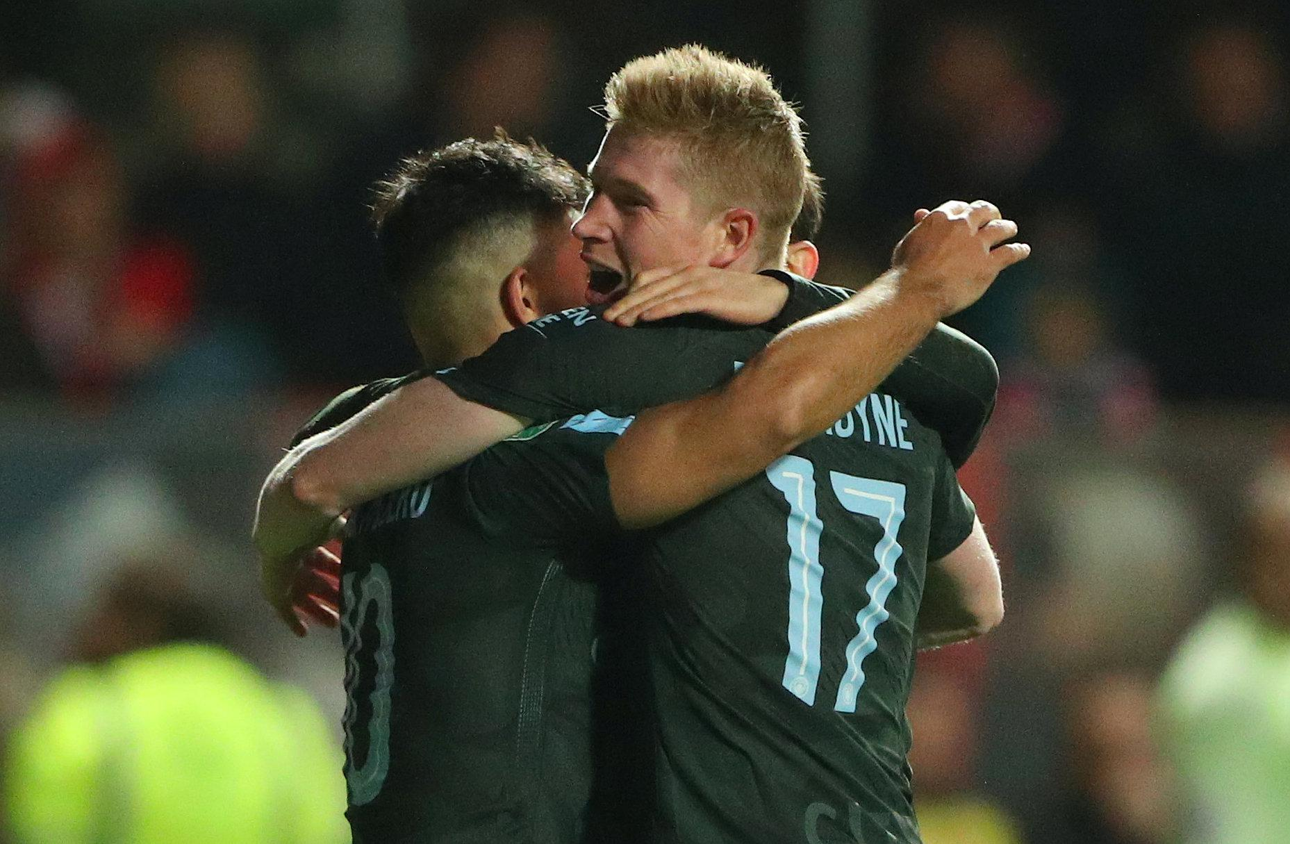 Kevin De Bruyne had a good game for the visitors