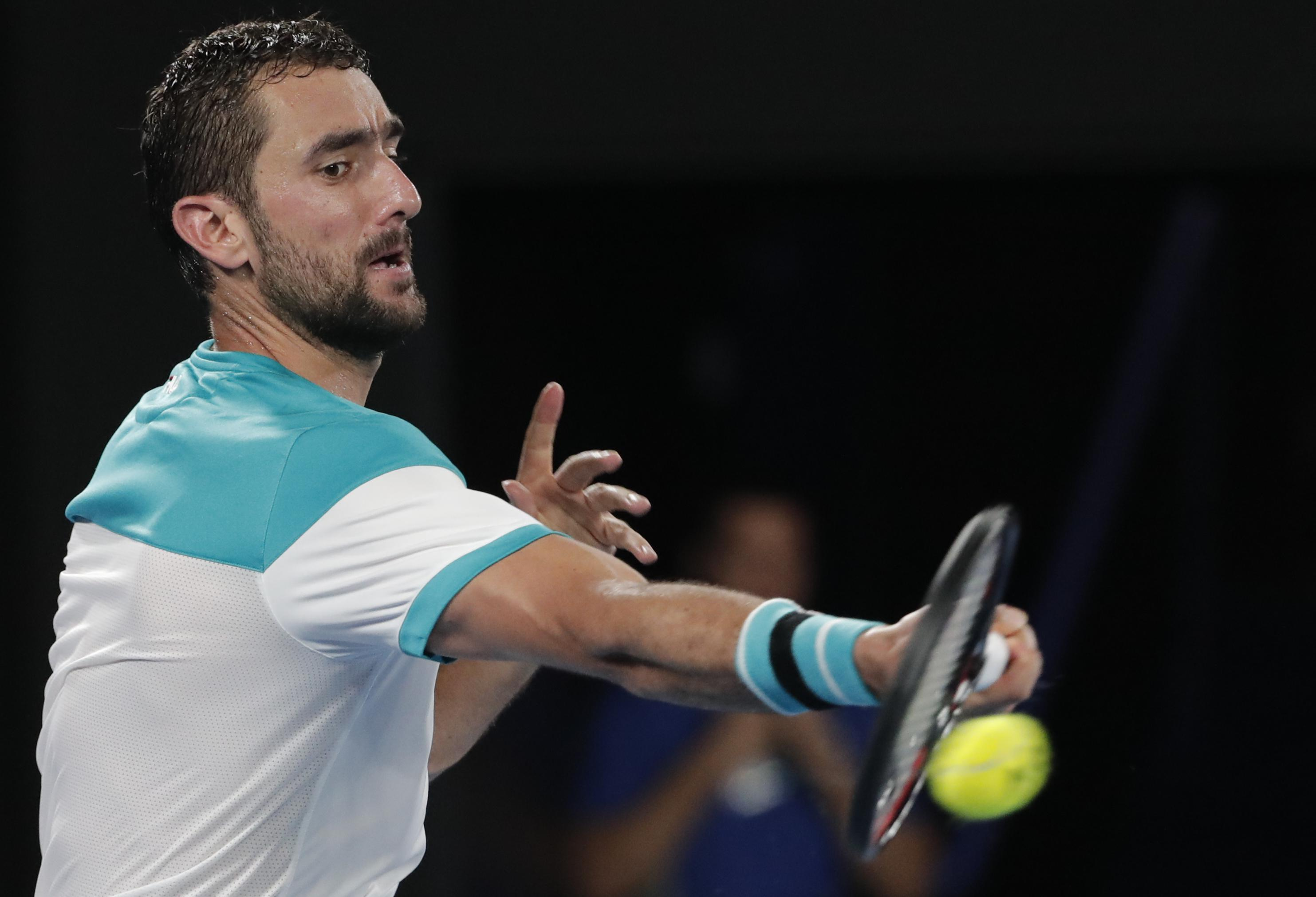 Marin Cilic beat Kyle Edmund in a one-sided affair winning 6-2, 7-6 (7-4), 6-2