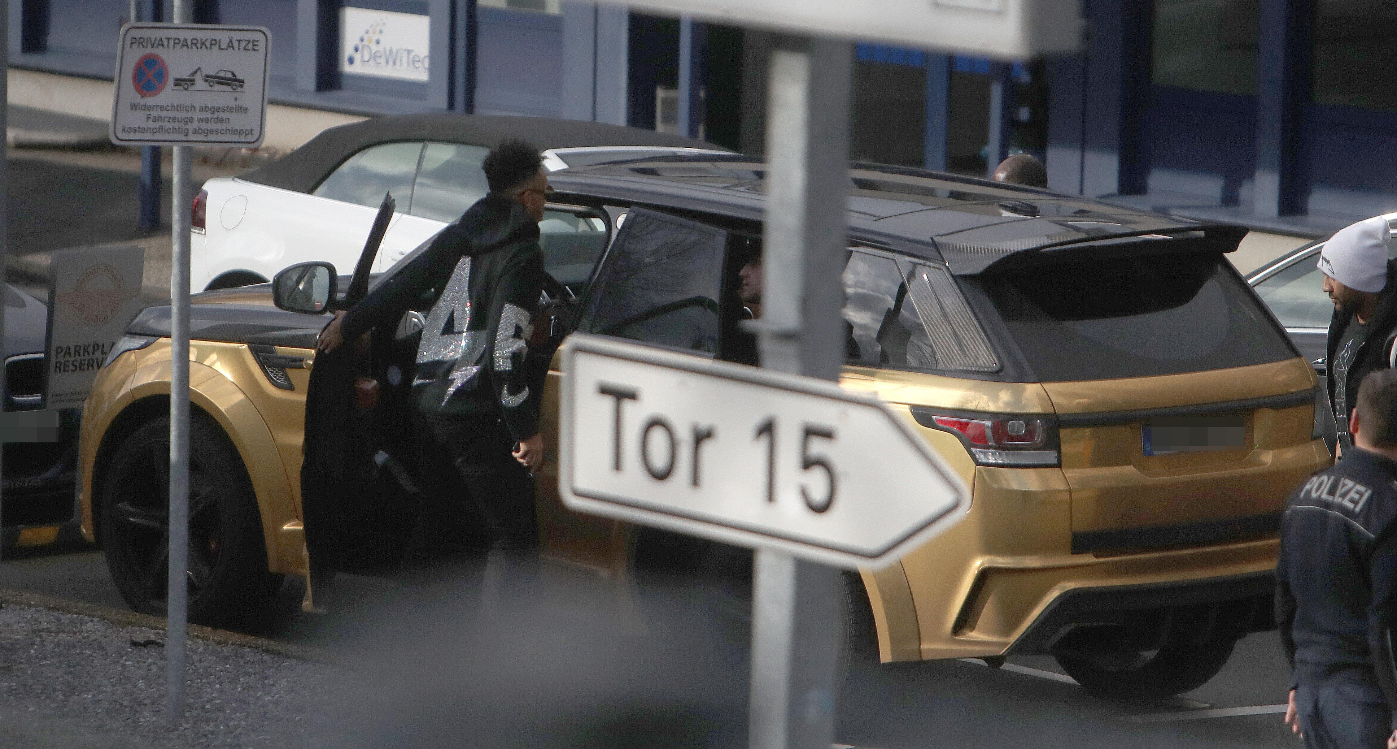 Aubameyang was spotted at Dortmund airport on Tuesday morning