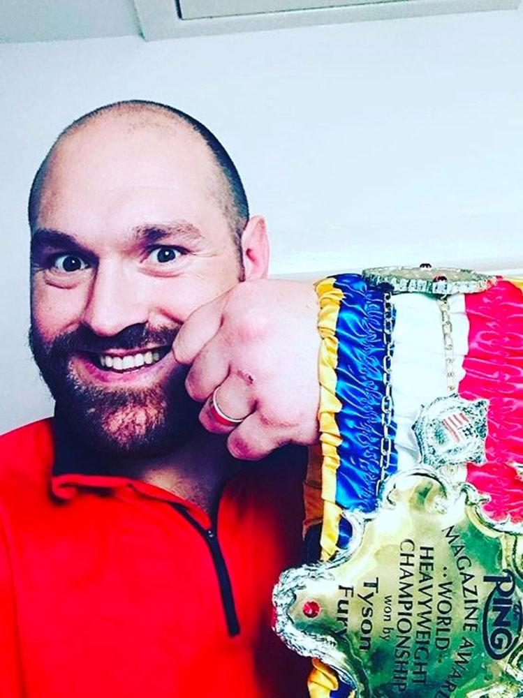 Tyson Fury will be stripped of his Ring Magazine belt if he doesn't announce a fight today