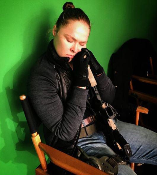 Ronda Rousey is starring in Mile 22 alongside Mark Wahlberg