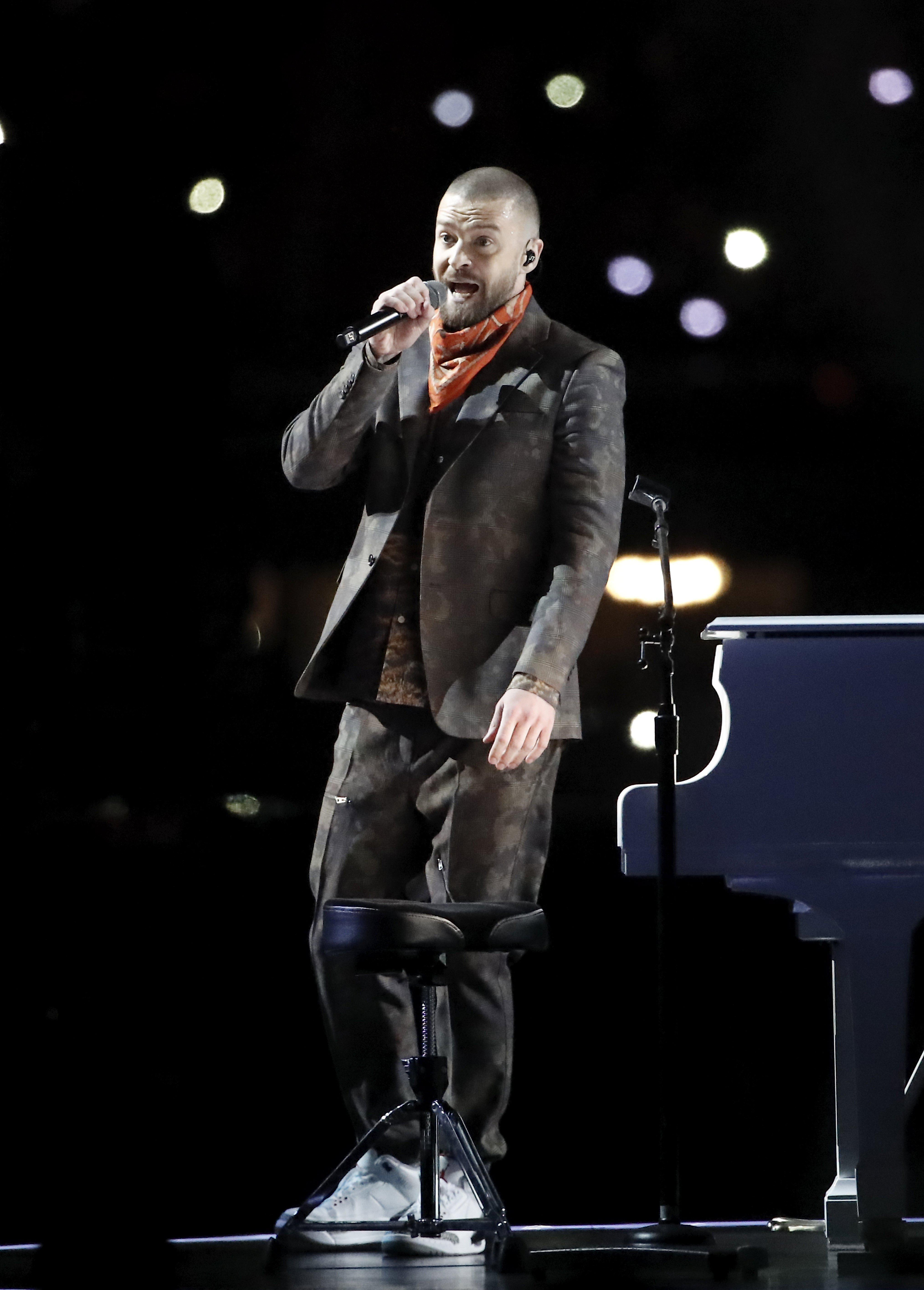 Justin Timberlake made the most of his moment in the spotlight at the Super Bowl
