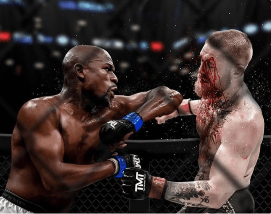 Floyd Mayweather posted this image on Twitter on Sunday, ahead of potential rematch, this time in the octagon, with Conor McGregor