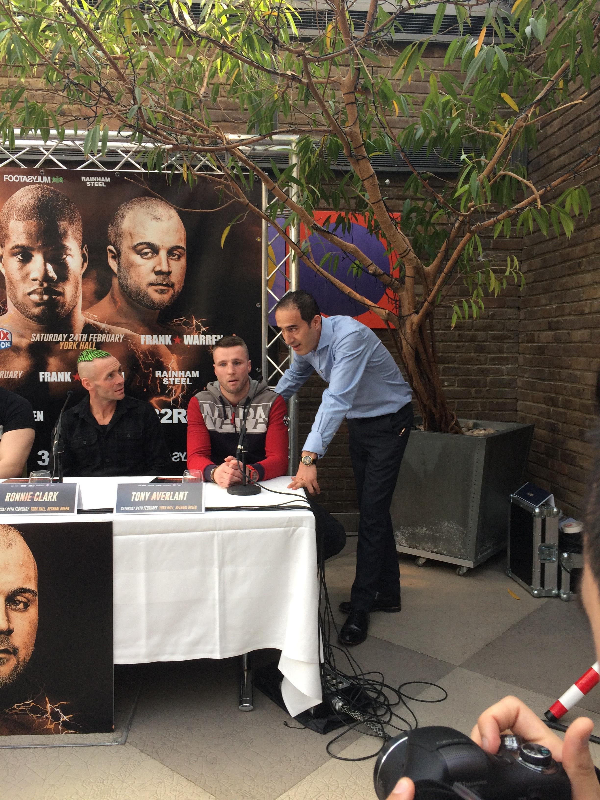 Frank Warren later apologised to Tony Averlant for not having a translator in the building