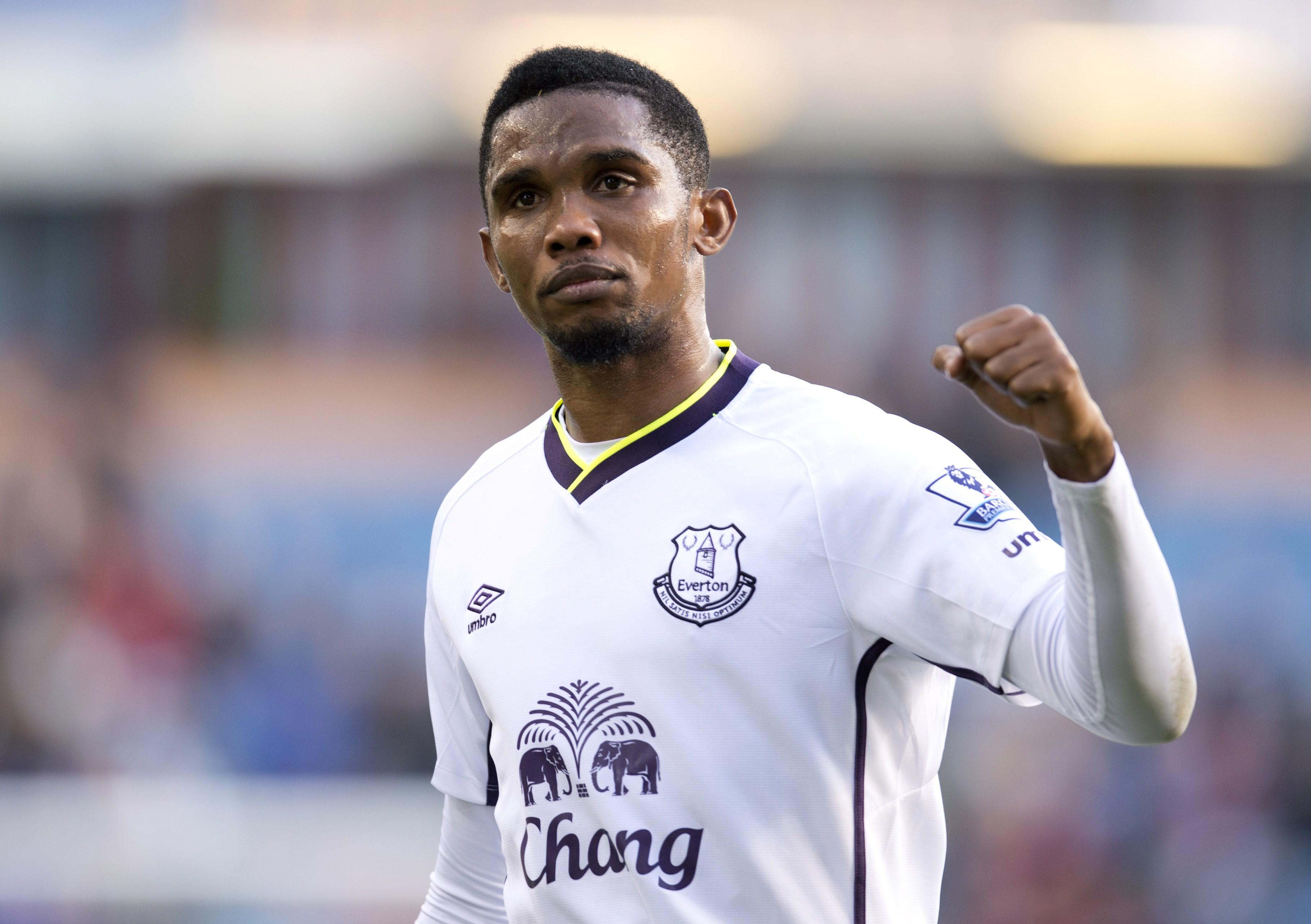 Everton also signed Samuel Etoo