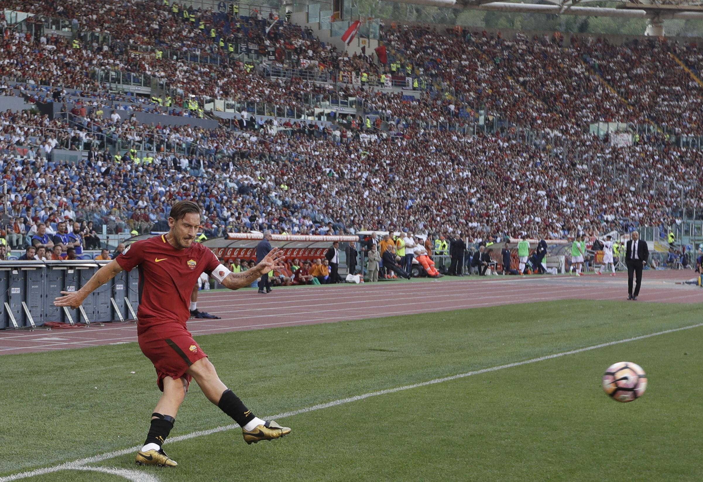 The forward was the king of the Stadio Olimpico and a true one-club man