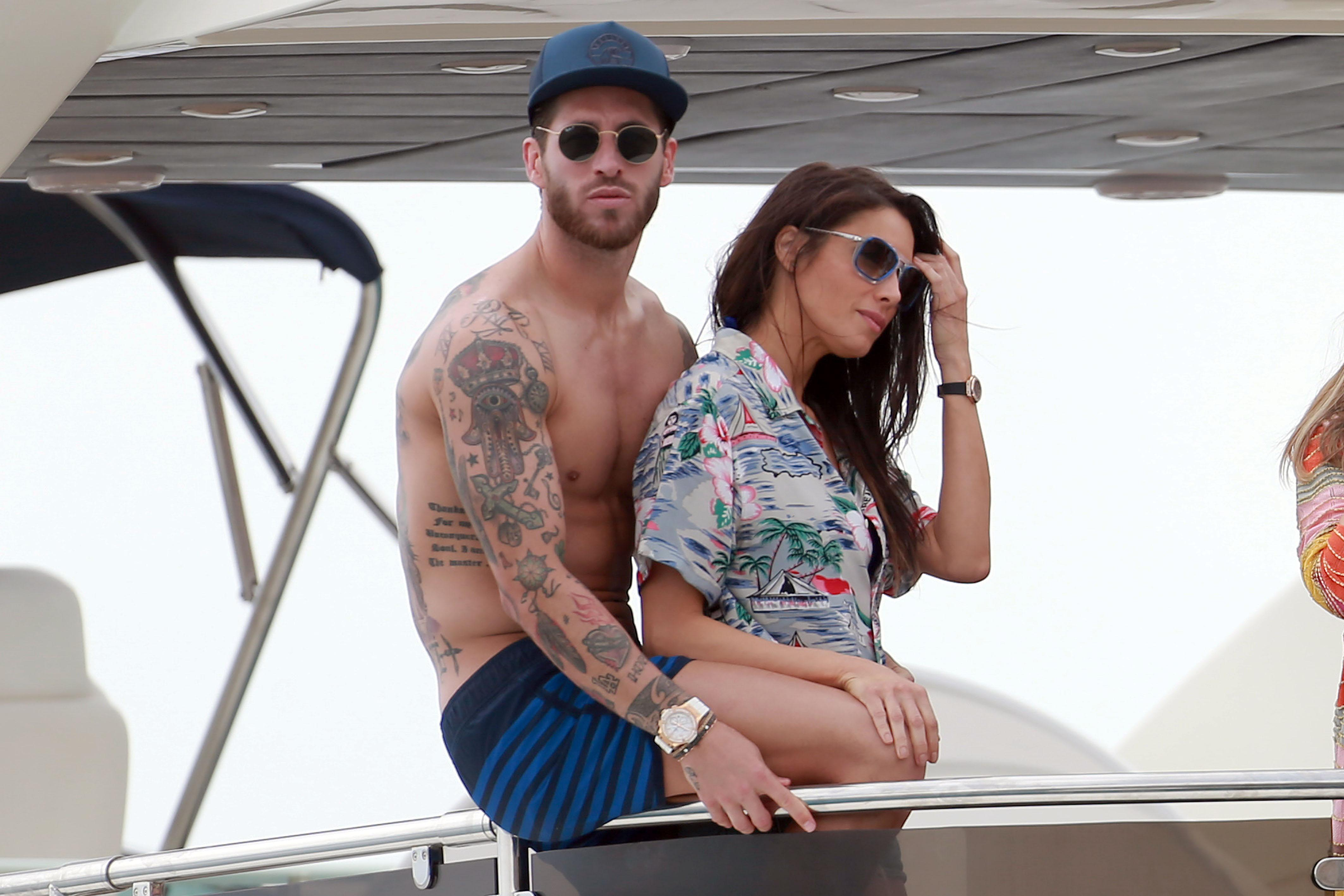 Sergio Ramos enjoyed some downtime on the Fairline Squadron 78 before the 2017 Champions League final