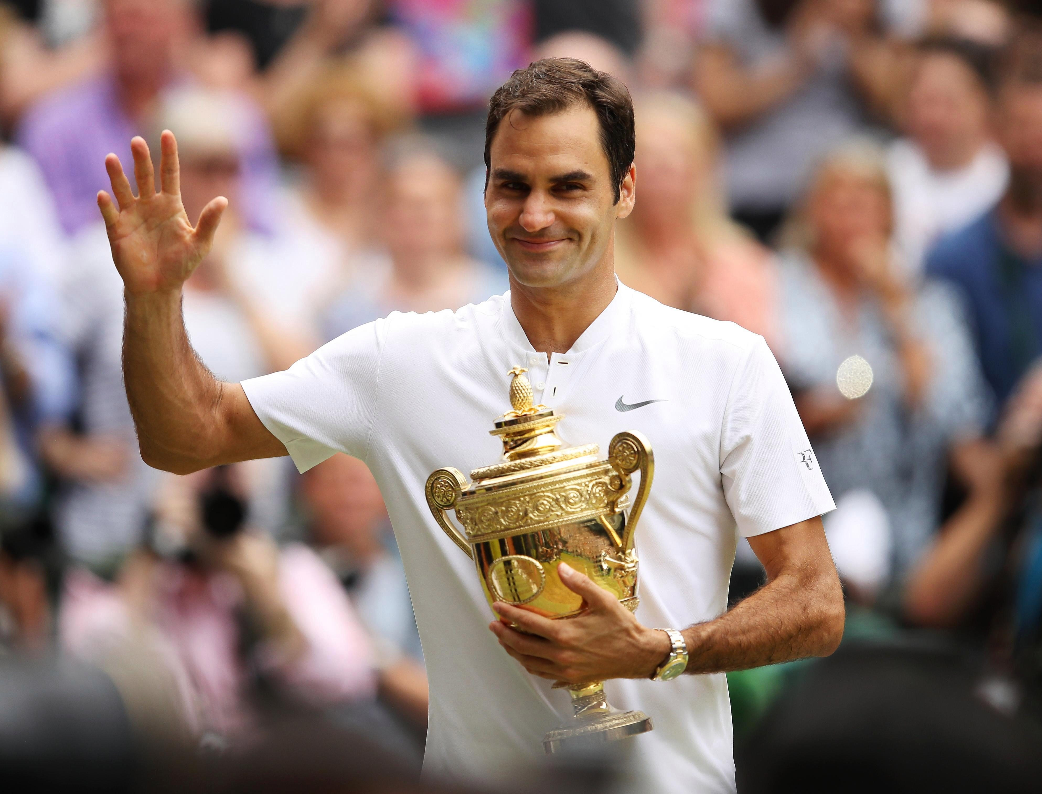 Roger Federer won his record eight Wimbledon title last year