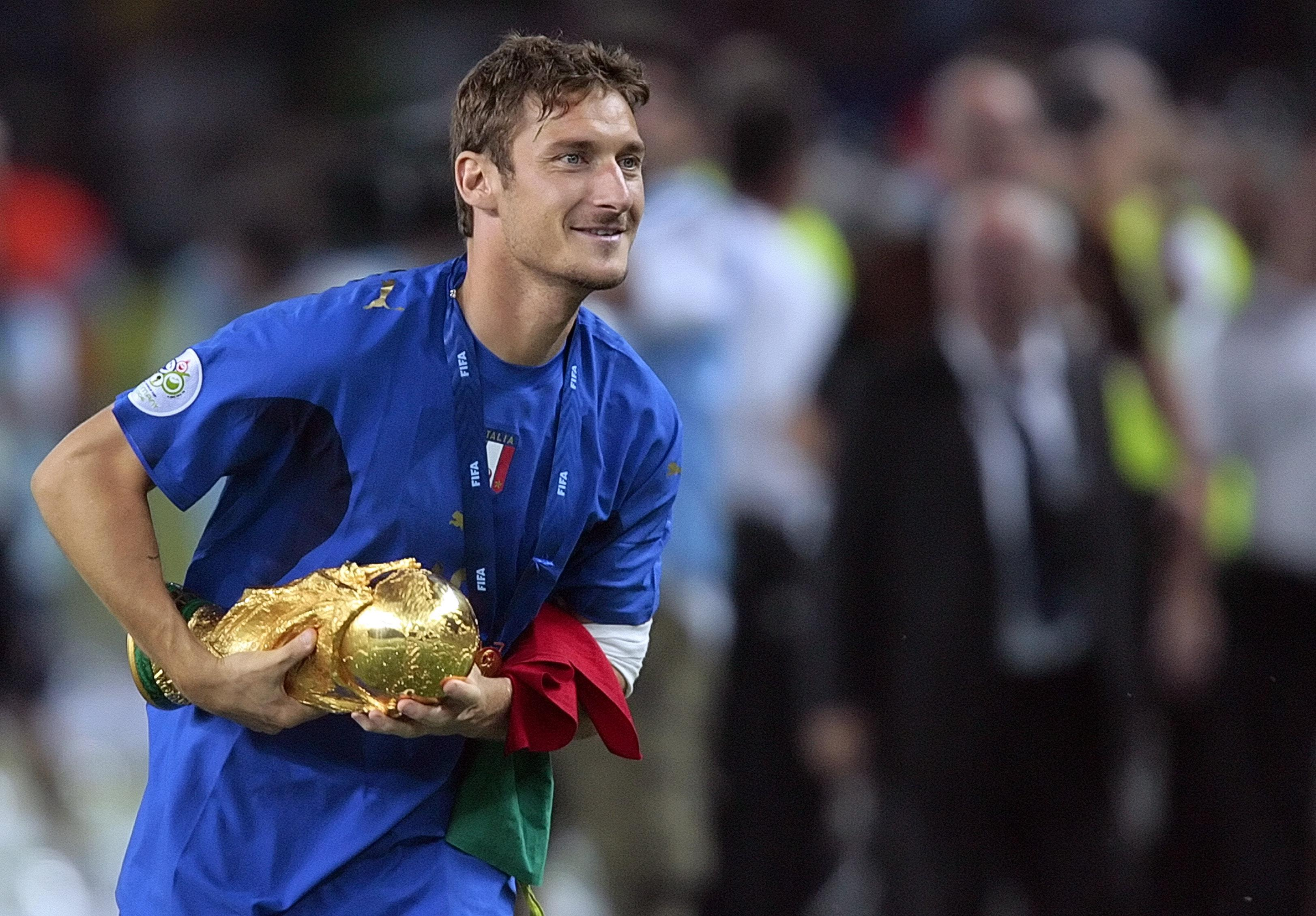 Francesco Totti won the World Cup with Italy in 2006