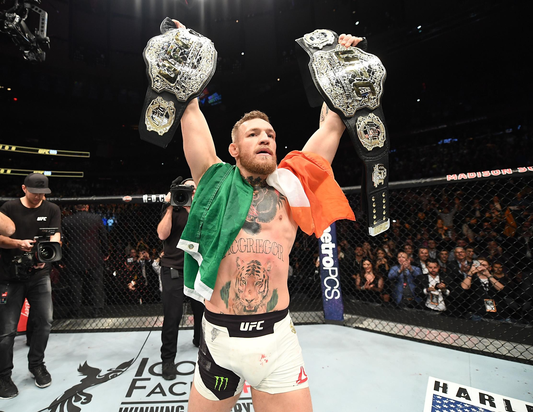 Conor McGregor is a two-weight world champion in UFC