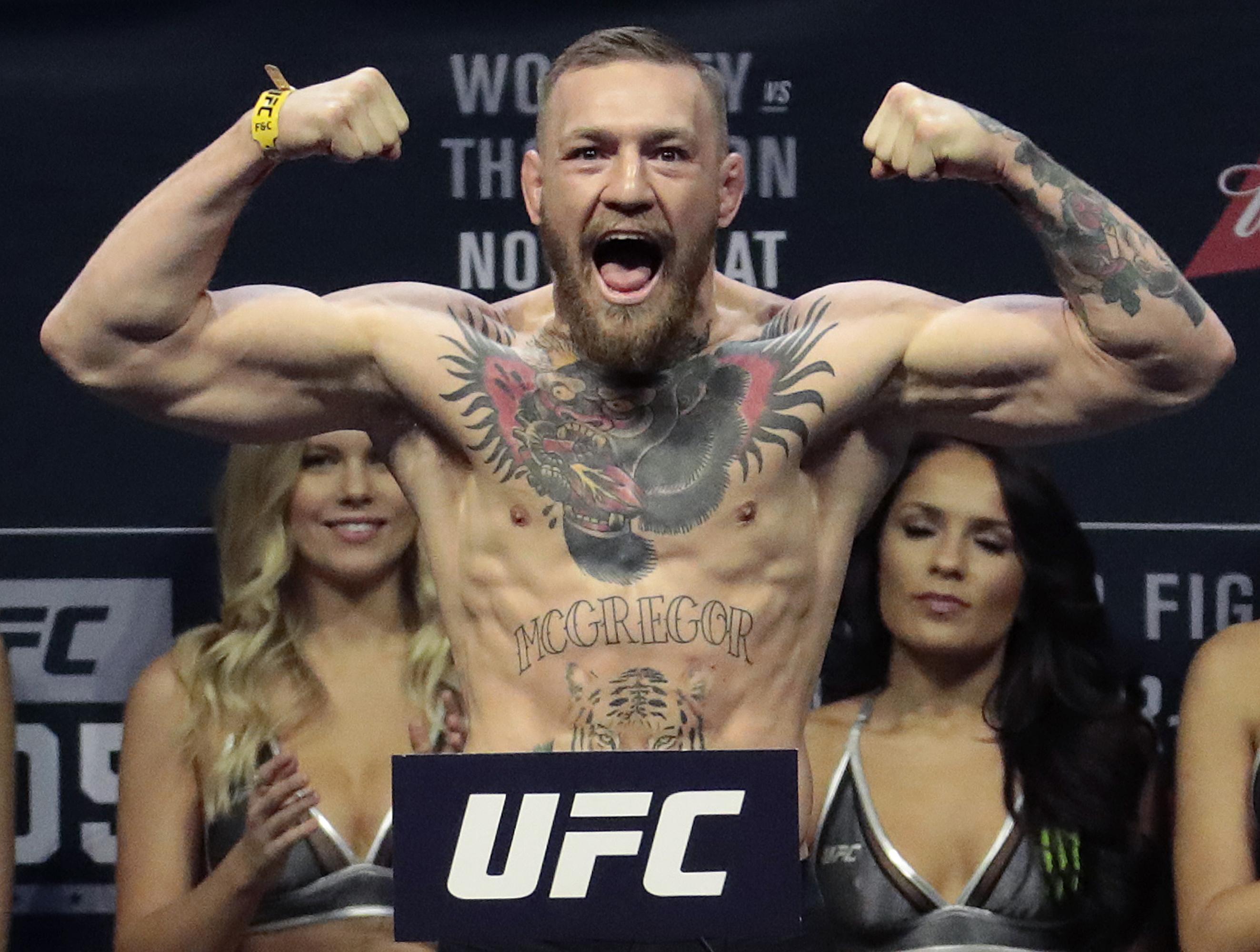 McGregor made the claim on social media