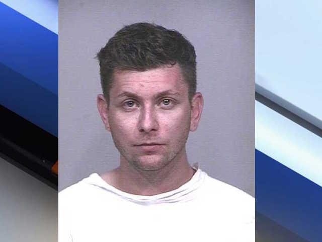Police released a mug-shot of the streaker, 24-year-old Adam Stalmach