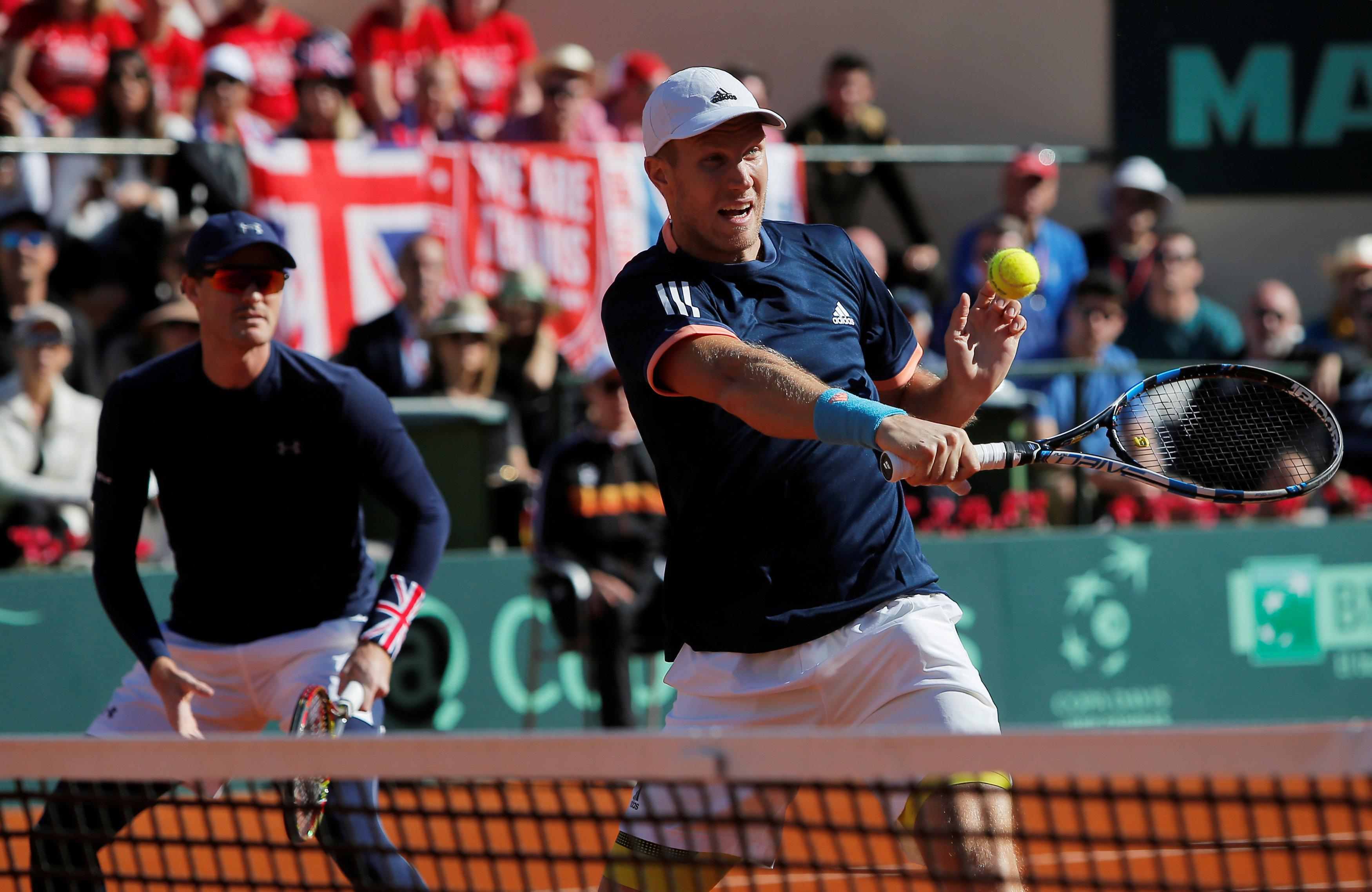 Great Britain must now win both reverse singles on Sunday.