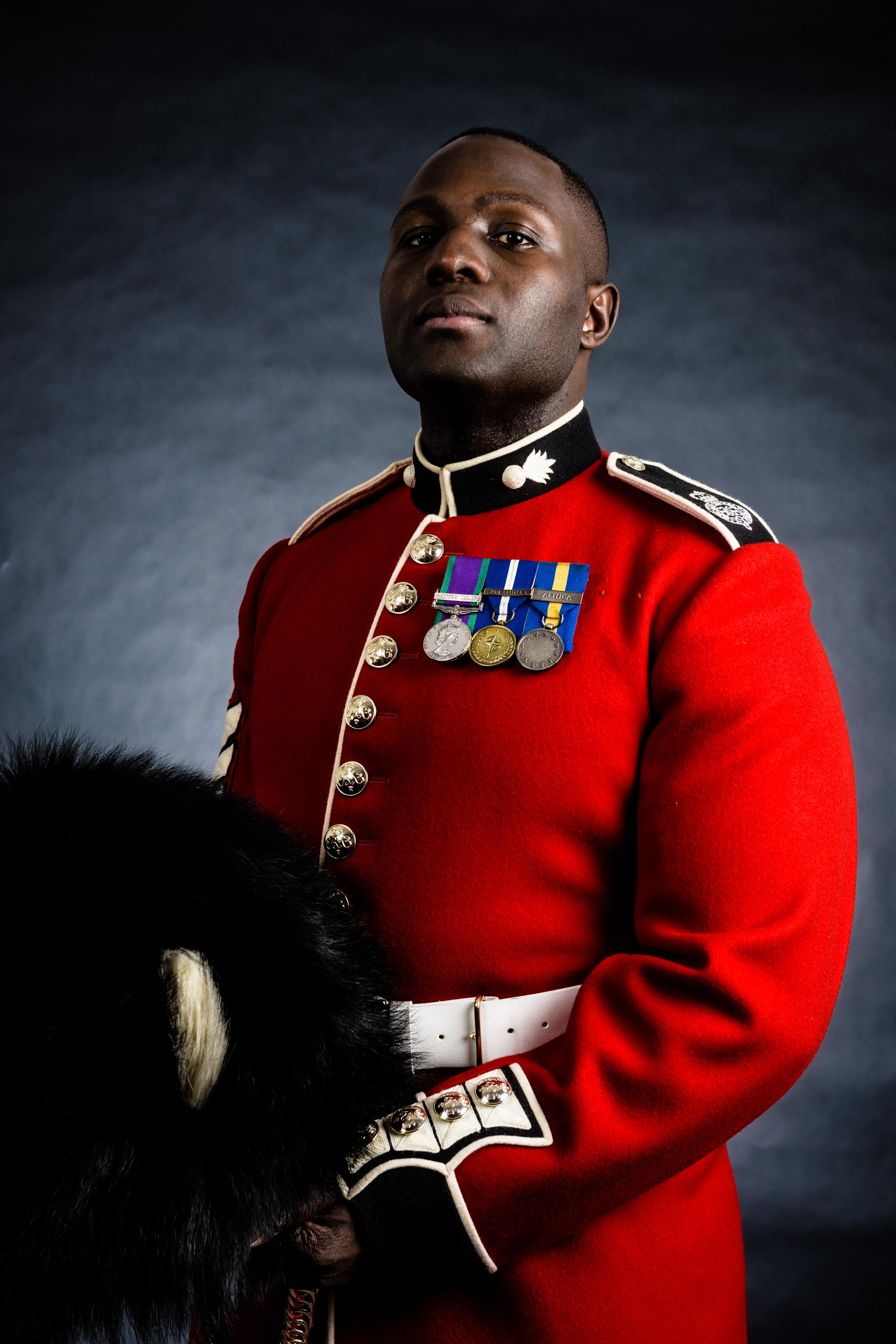 LSgt Lamin Deen of the Grenadier Guards is hoping to grab a medal for Great Britain