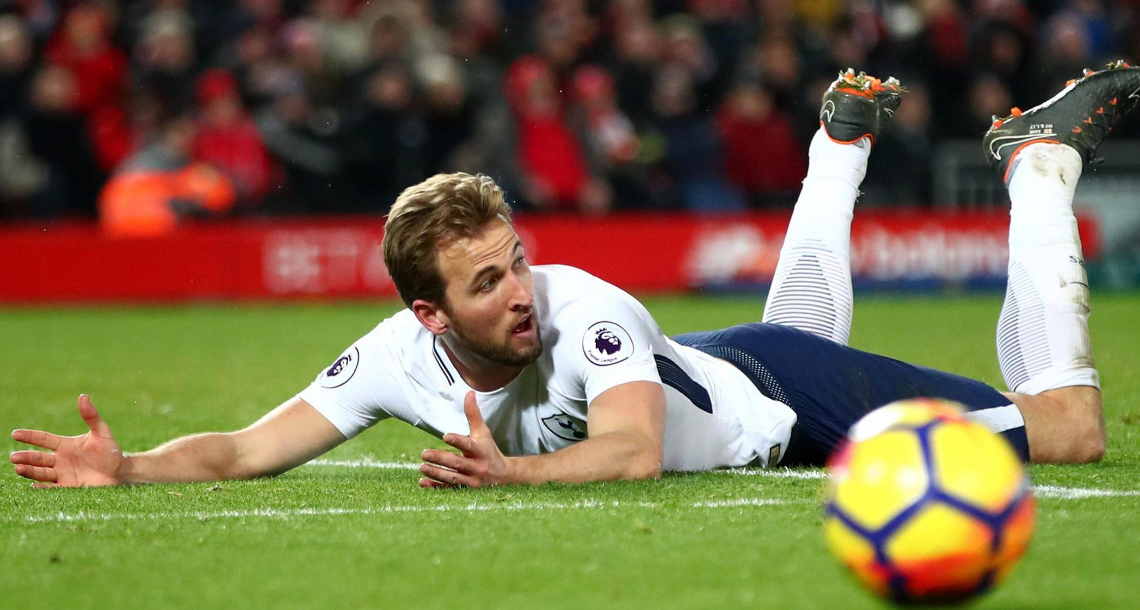 On Sunday Kane was brought down by Loris Karius for Tottenham's first penalty