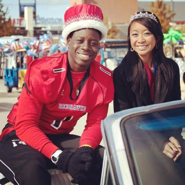 Ajayi was prom king back at high school in Texas