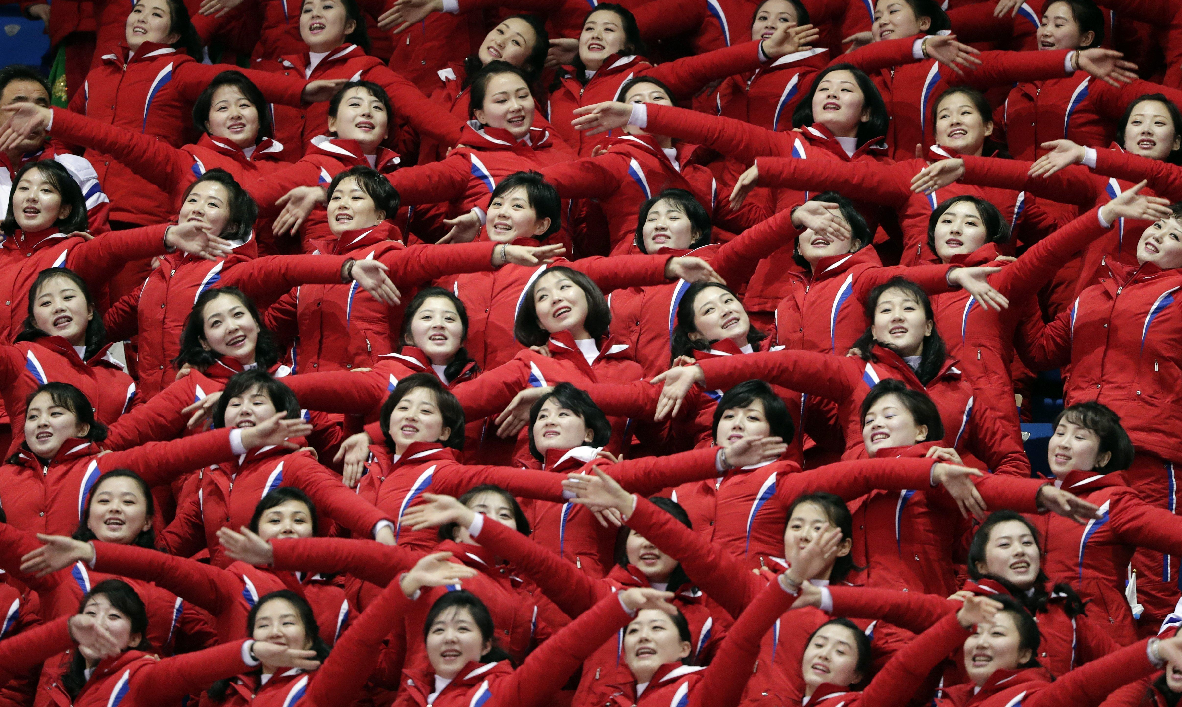 Supporters cheer on their country at the 2018 Winter Olympics