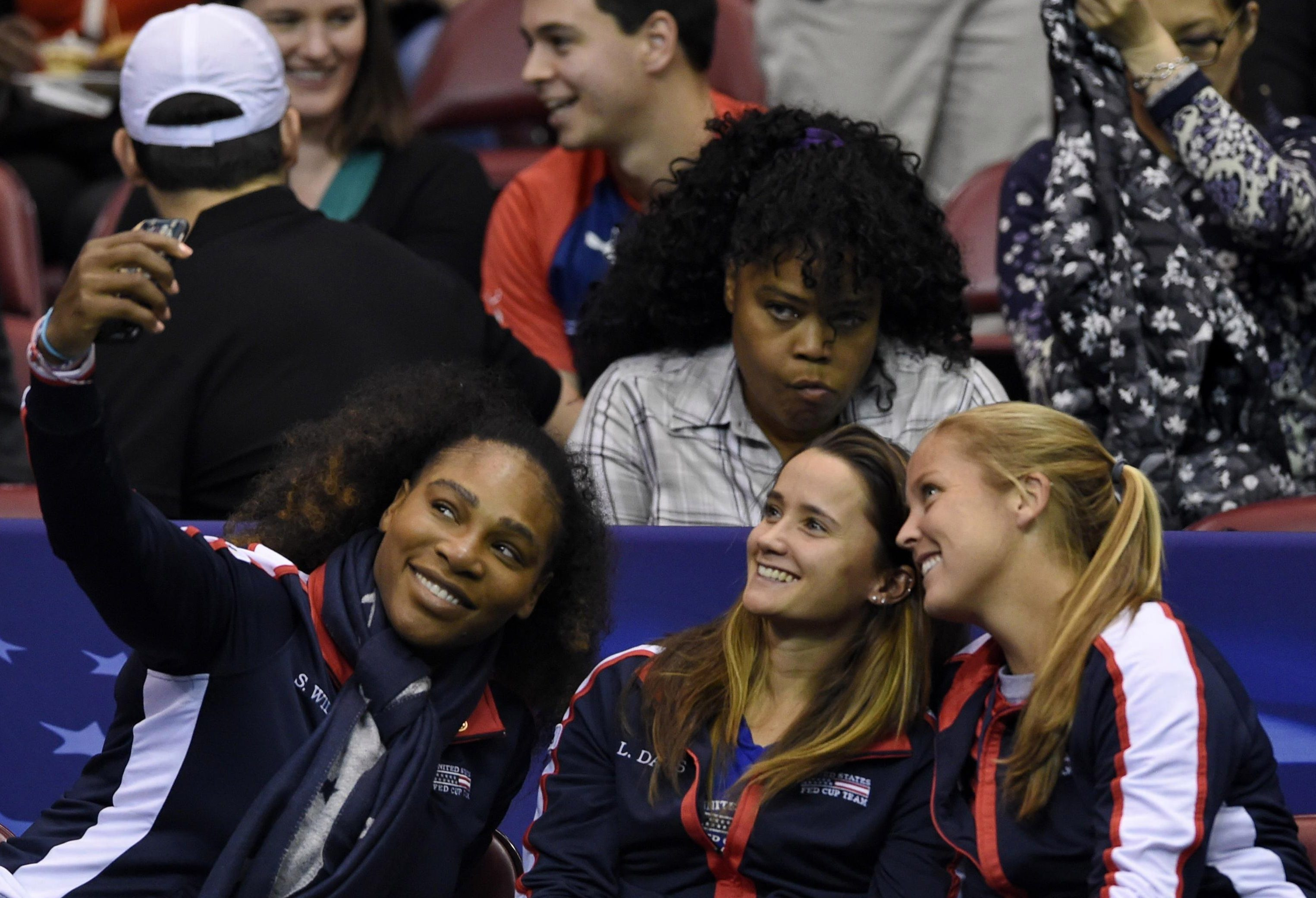 She was playing doubles in the first round of the Fed Cup in the US with sister Venus