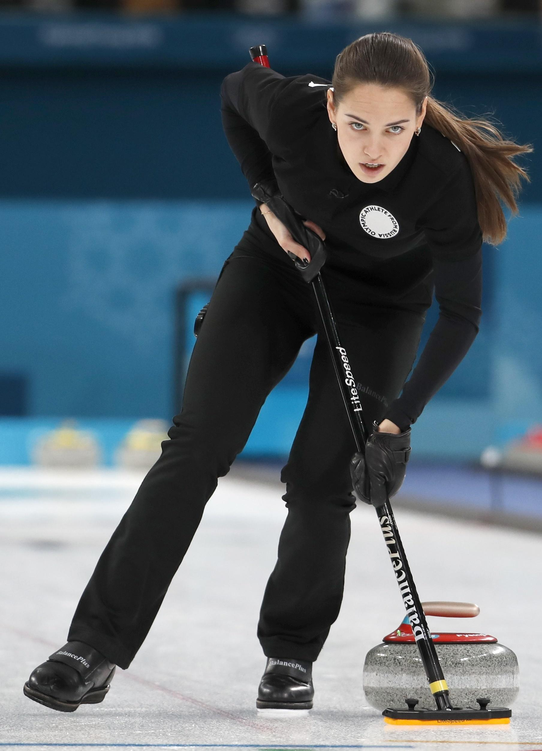 The 25-year-old is a world curling champ