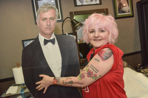 nintchdbpict000384781682 - Jose Mourinho obsessed gran has dedicated her Valentine's Day to Manchester United manager — by getting her 35th tattoo