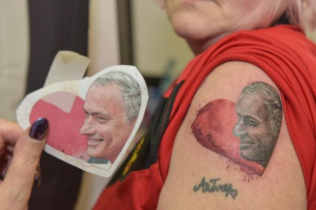 nintchdbpict000384782569 - Jose Mourinho obsessed gran has dedicated her Valentine's Day to Manchester United manager — by getting her 35th tattoo