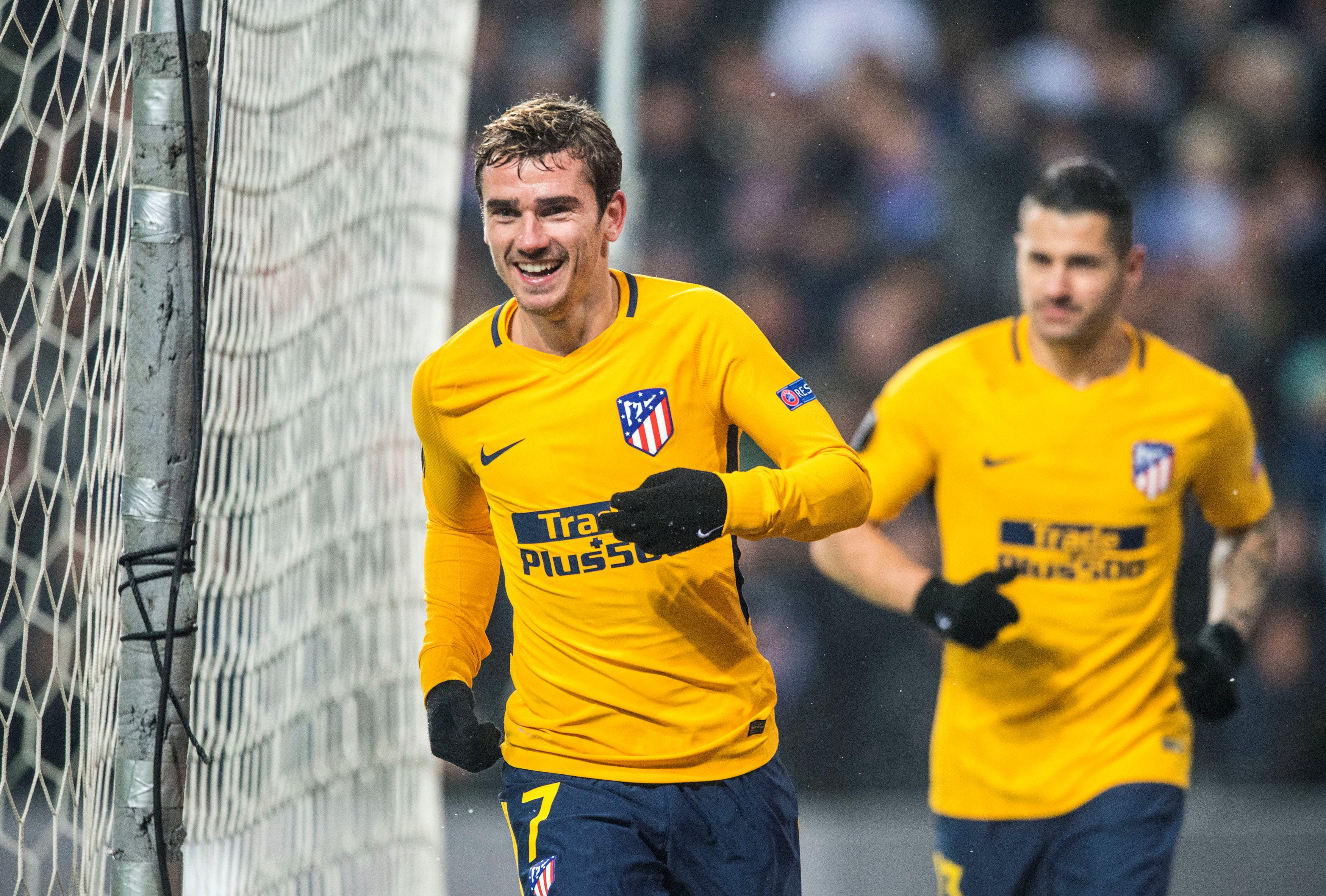 Antoine Griezmann had a hand in three of Atletico's four goals in Denmark