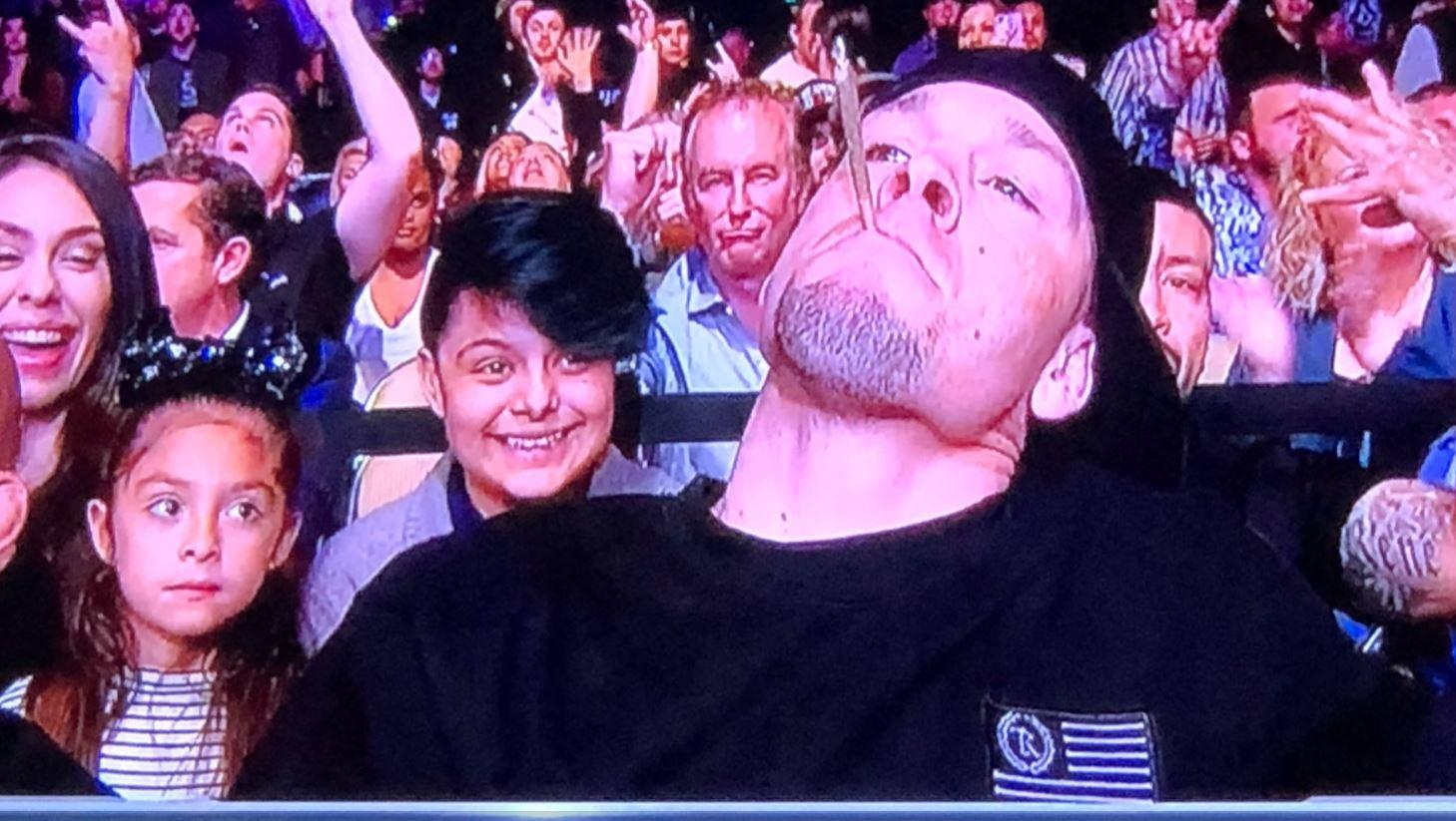 The camera quickly panned away from Diaz, so it is now known whether he actually smoked it
