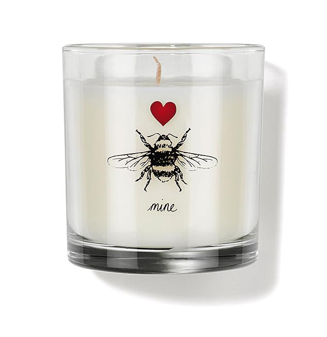 This Valentine's candle is scented with real honey