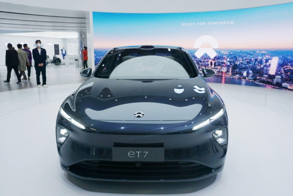 The new NIO ET7 released by NIO at the Shanghai Auto Show attracted many fans