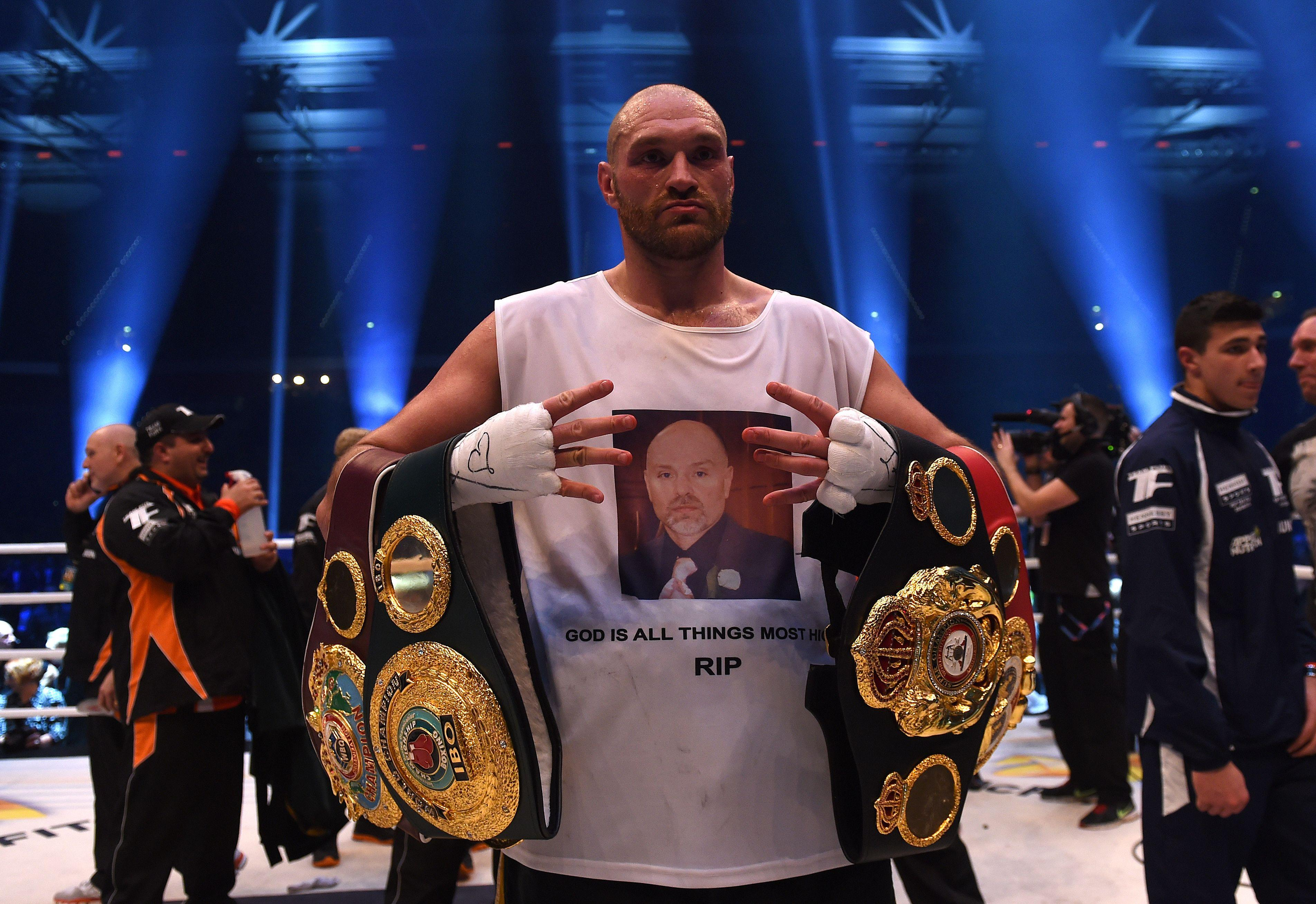Former champ Tyson Fury claims Anthony Joshua is just keeping his belts warm