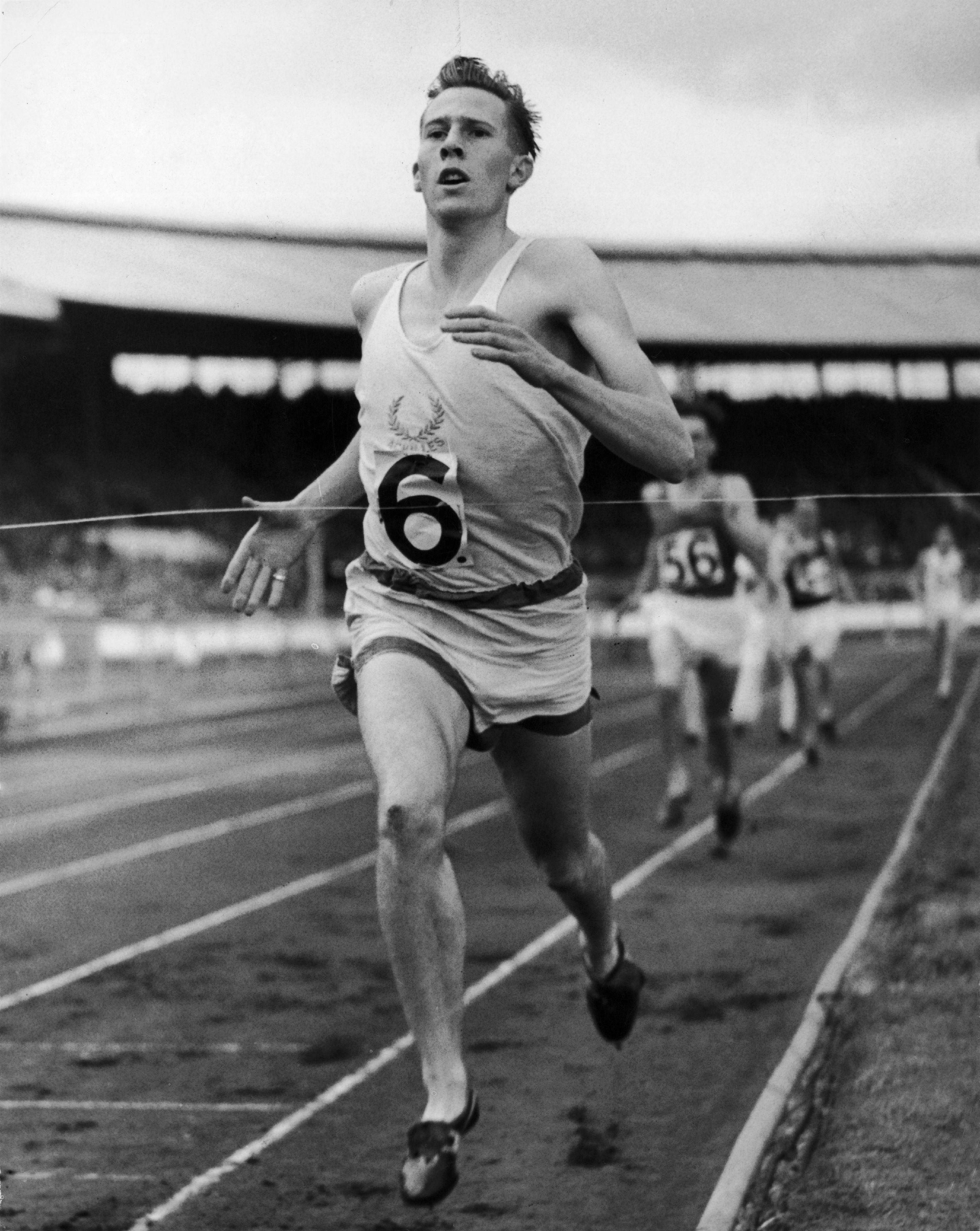 Bannister took part in races while training to be a junior doc