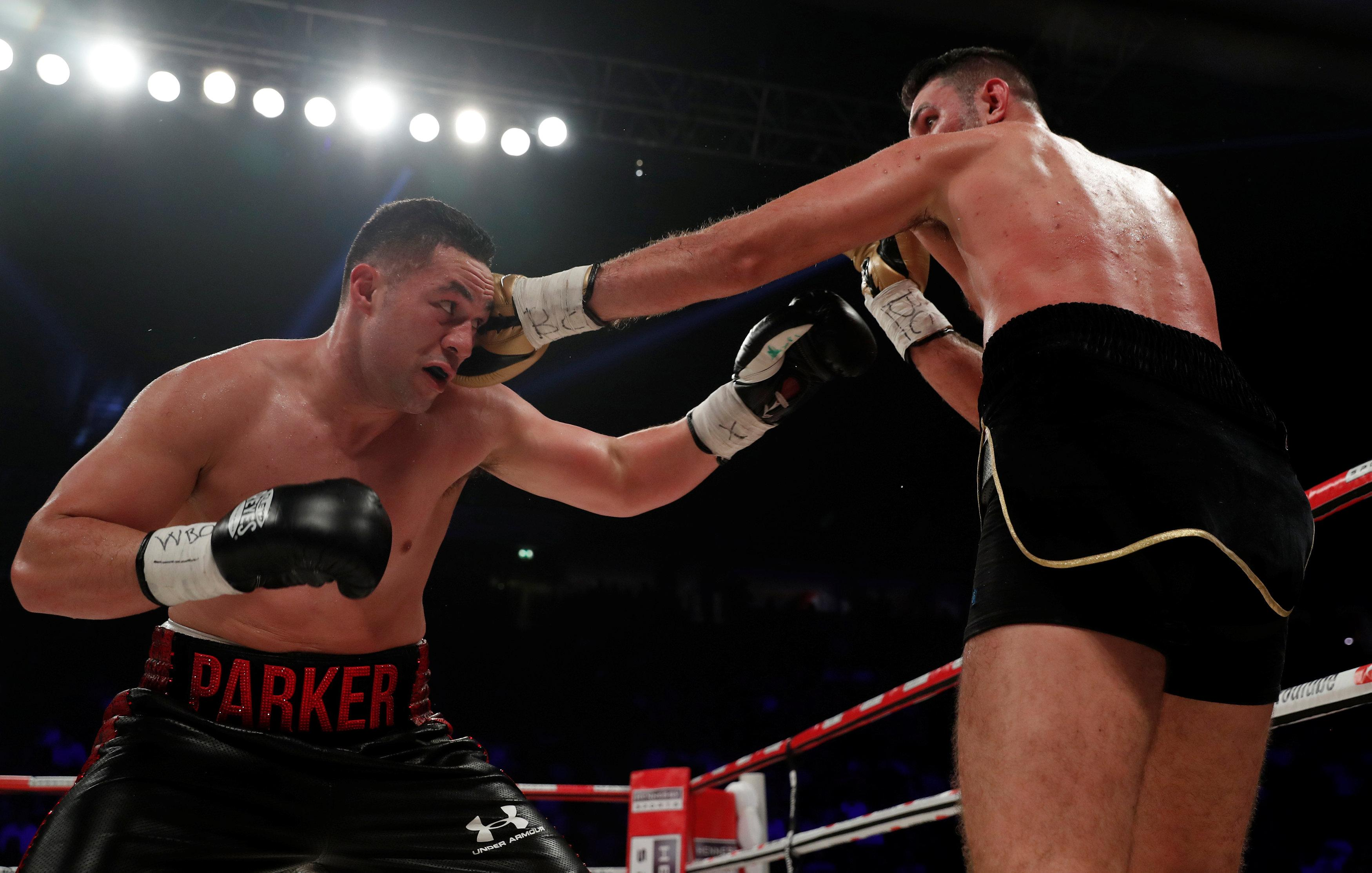 Joseph Parker struggled with elbow injuries during Hughie Fury win