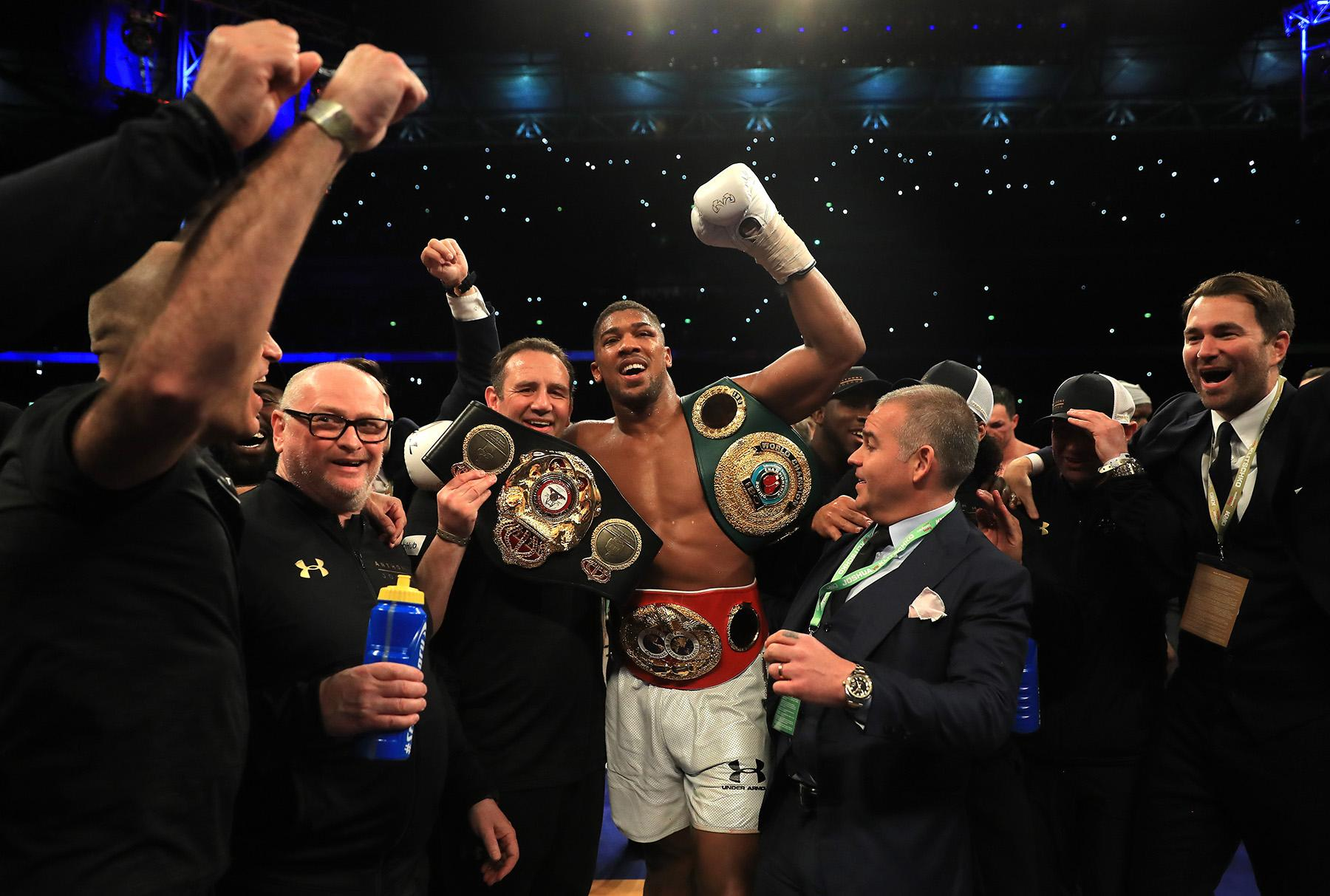 Anthony Joshua defeated Wladimir Klitschko in the IBF, WBA and IBO Heavyweight World Title bout at Wembley on April 29 2017