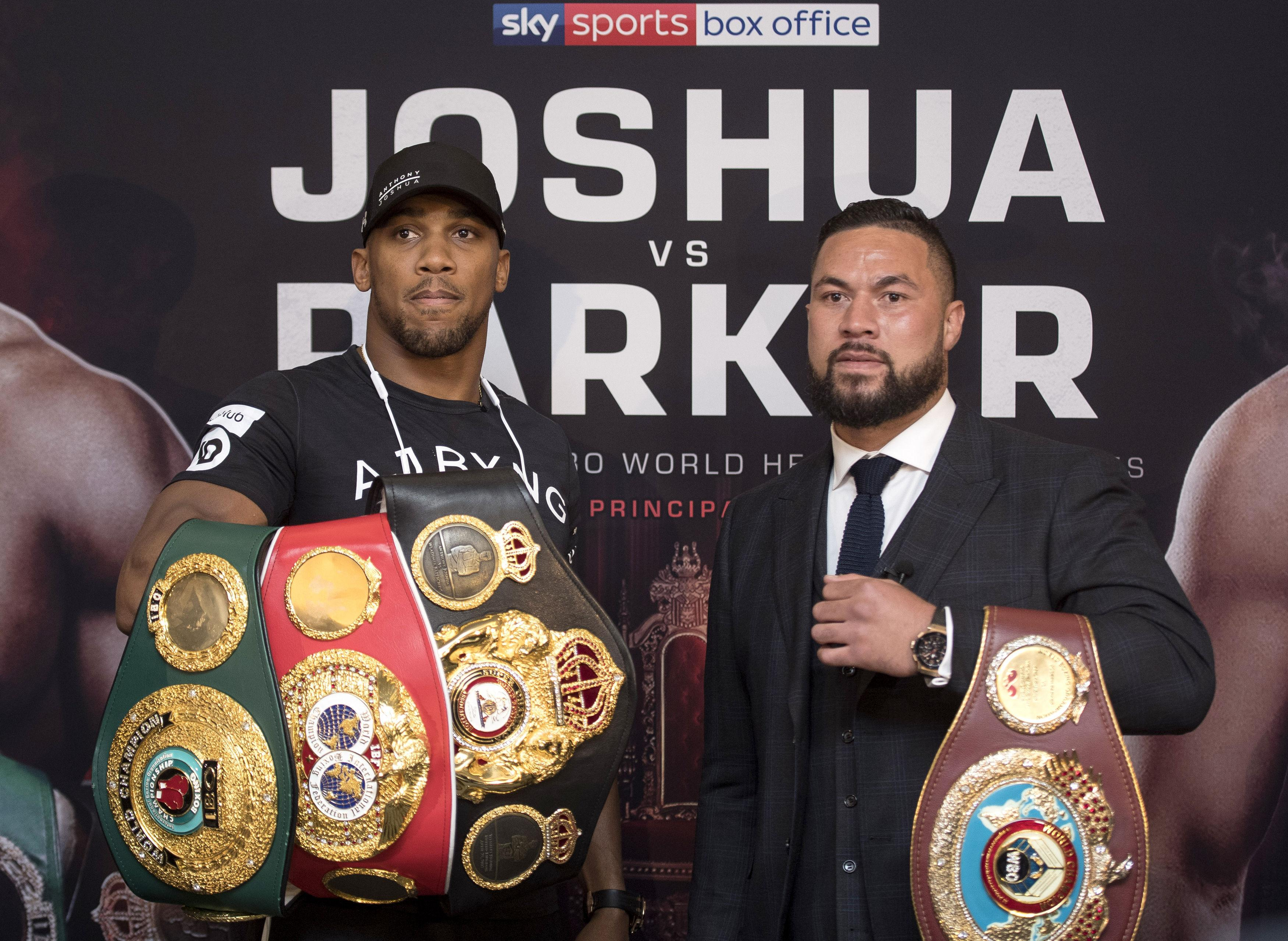 The 28-year-old is currently preparing to face WBO champ Joseph Parker