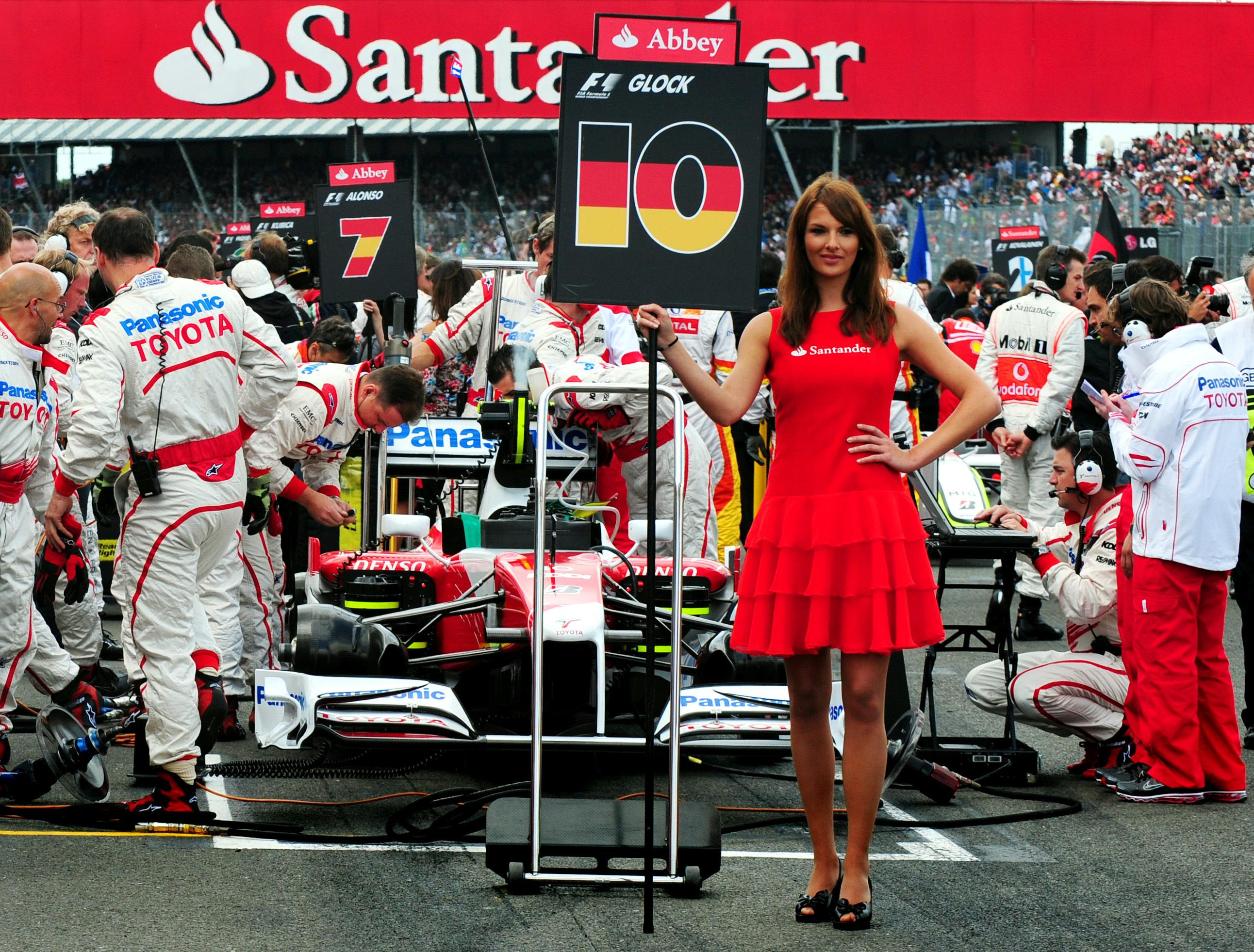 The sight of Grid Girls at Grand Prix races is a thing of the past