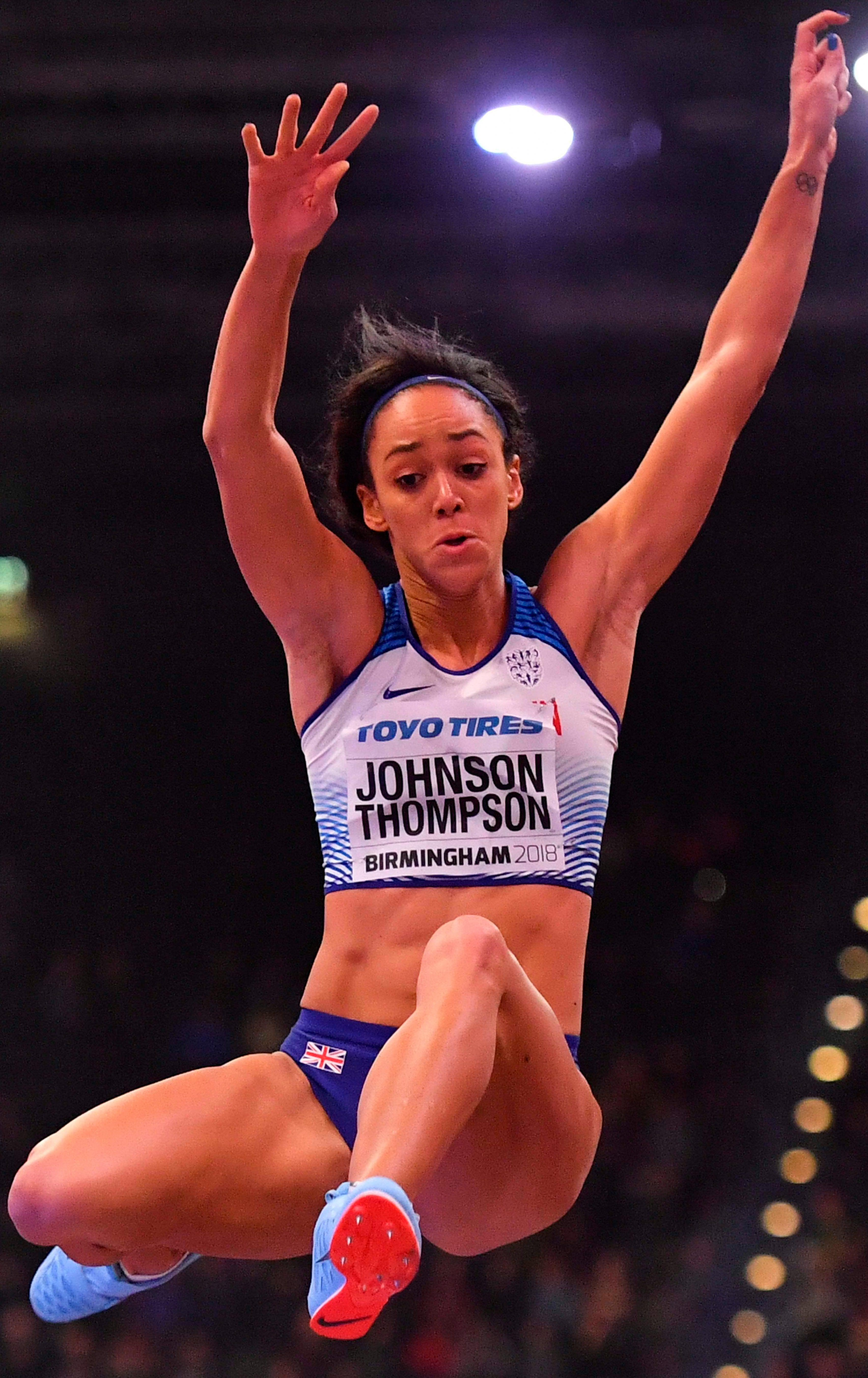 Katarina Johnson-Thompson won gold at the World Indoor Championships in Birmingham last year