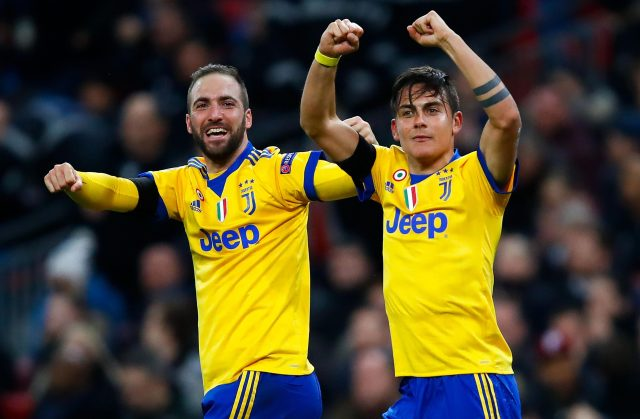 Goals from Gonzalo Higuain and Paulo Dybala put Juventus through
