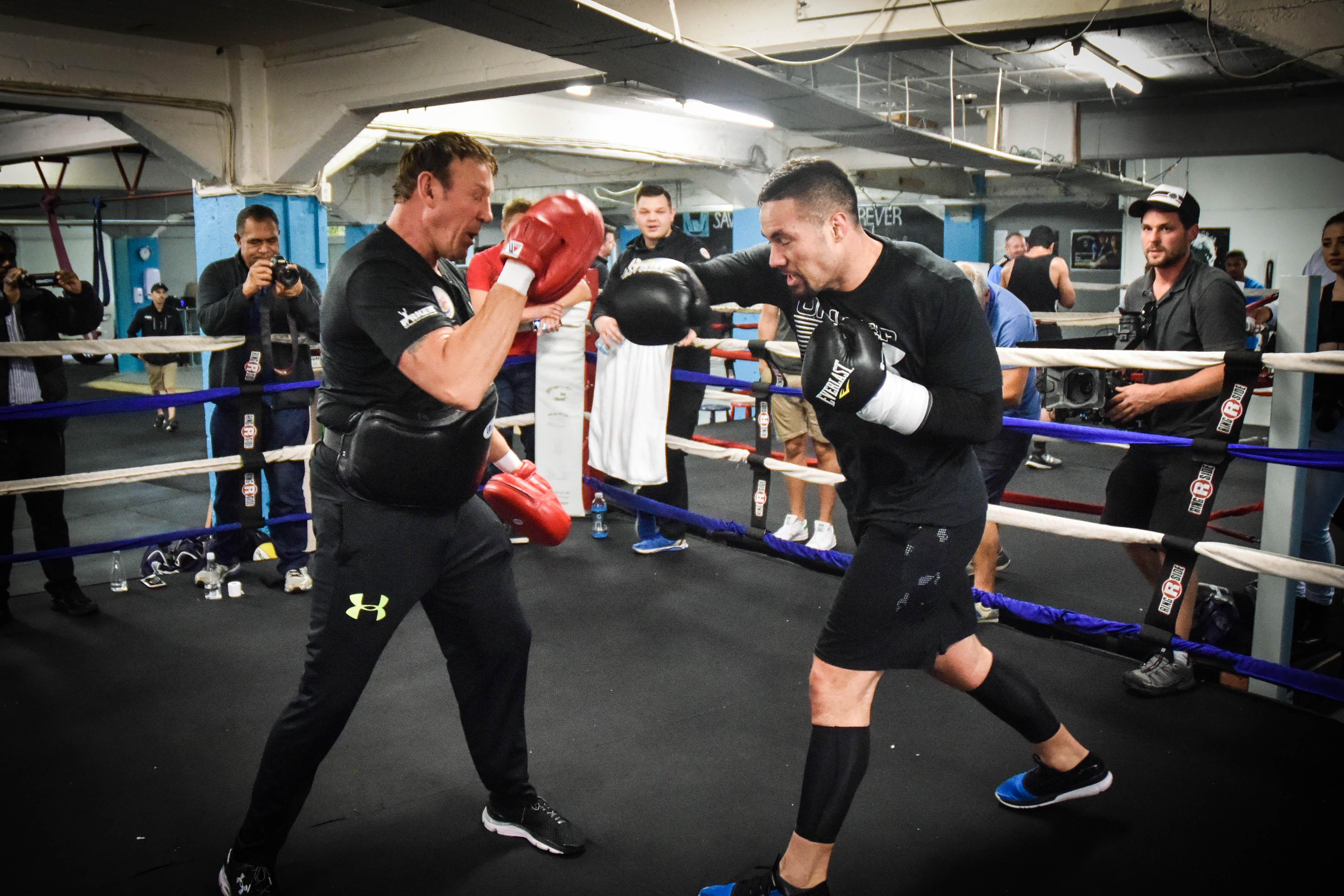 Joseph Parker in training ahead of Anthony Joshua blockbuster fight