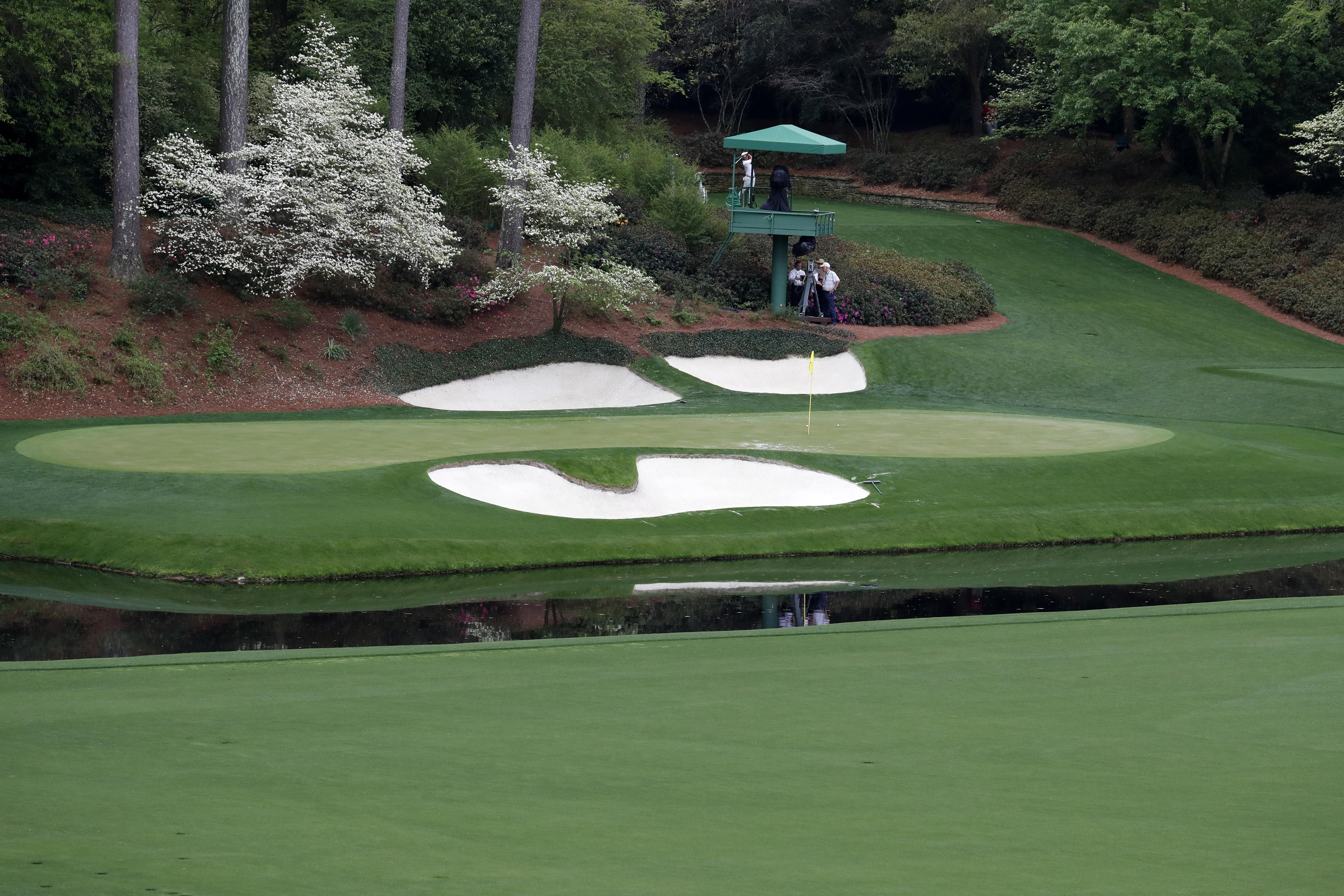 The world's best golfers will be tasking on the famous 12th hole at Augusta