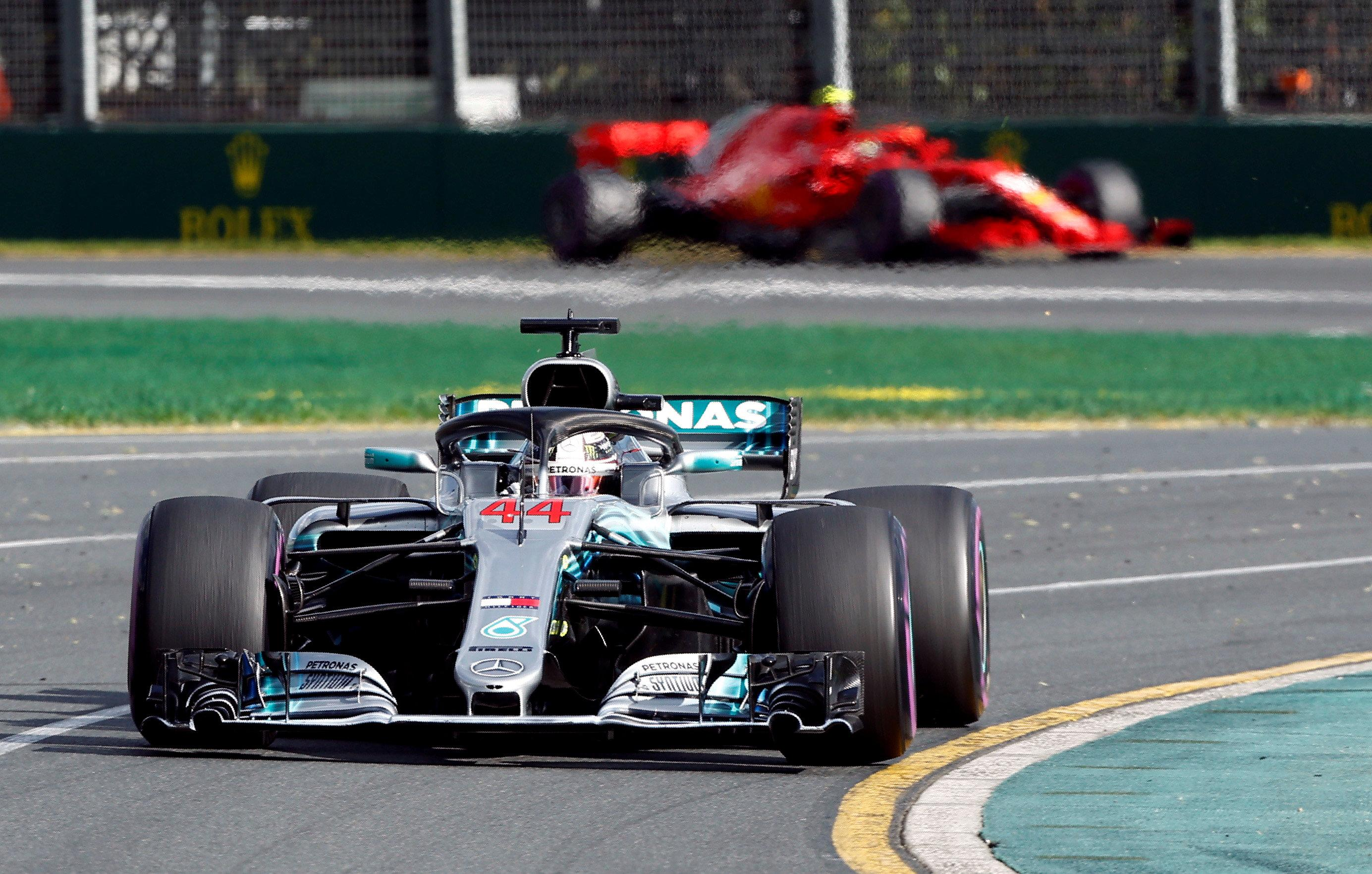 Lewis Hamilton was leading until lap 26, when safety car was deployed