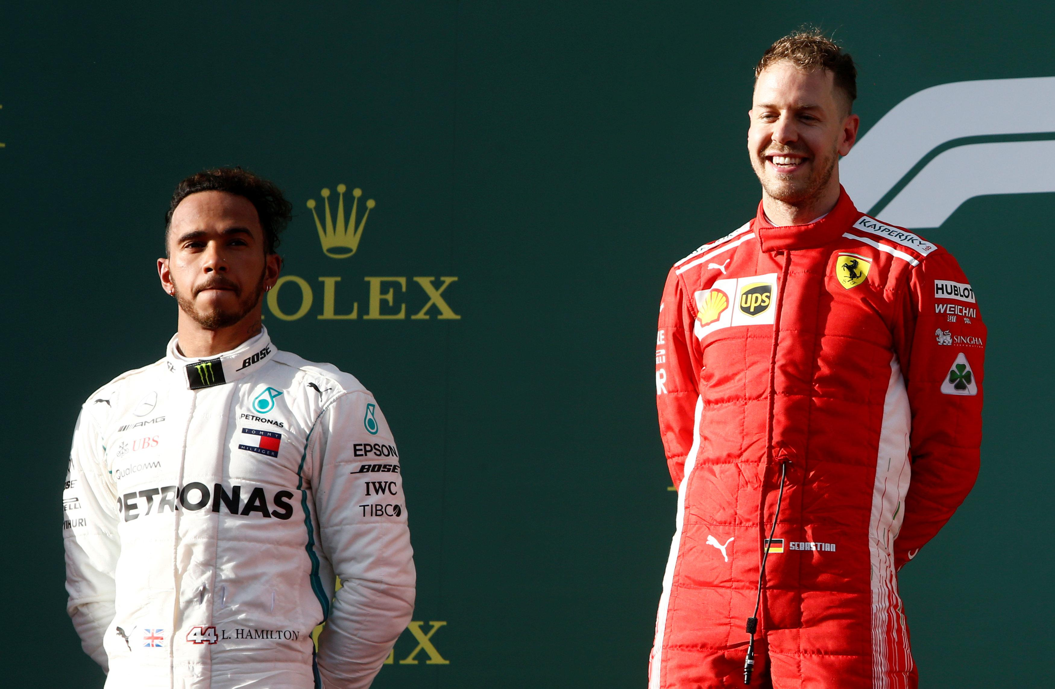 Sebastian Vettel ran out the winner in the race, with Lewis Hamilton fuming