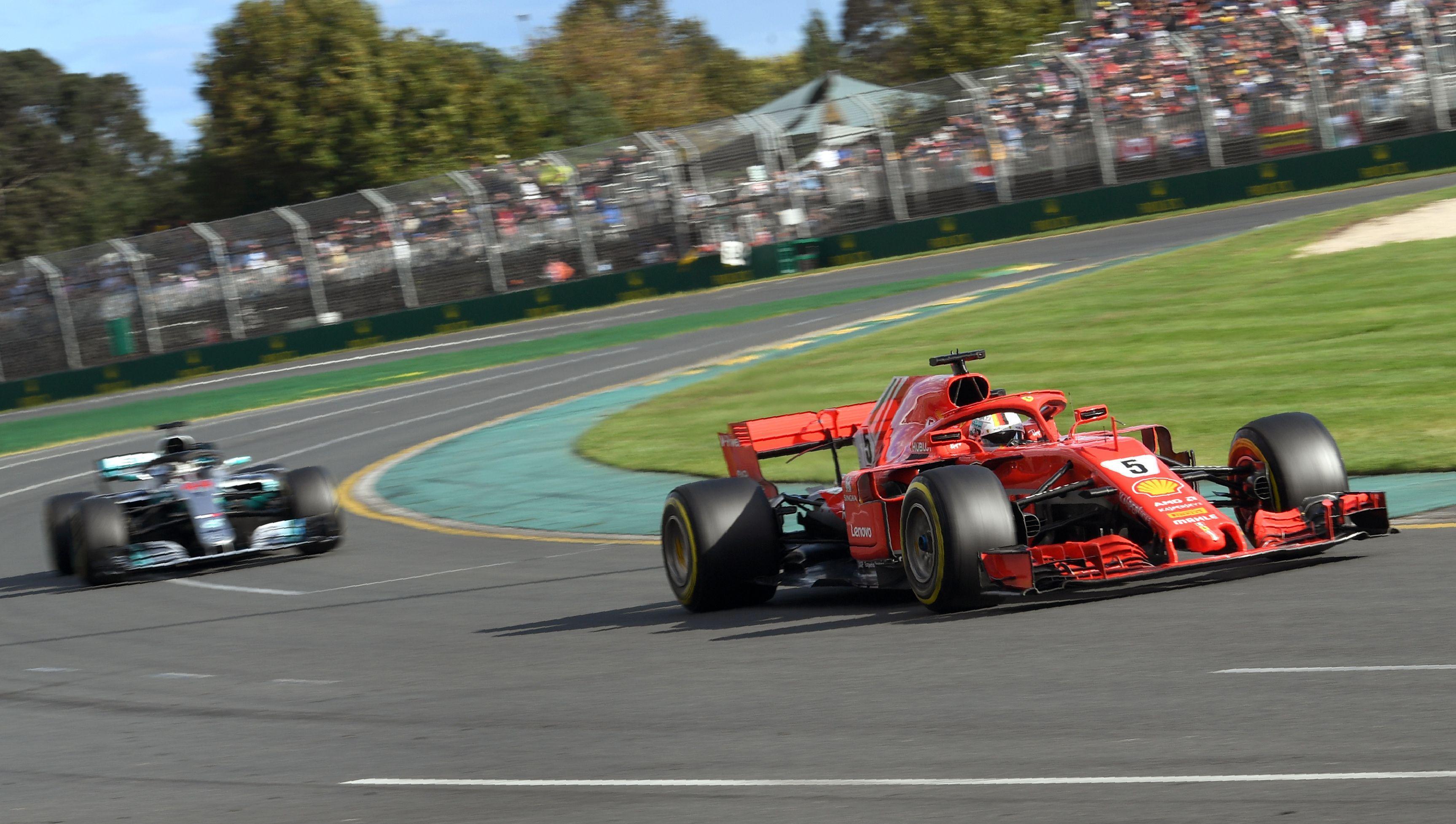 Sebastian Vettel held off Lewis Hamilton to win the F1 season opener