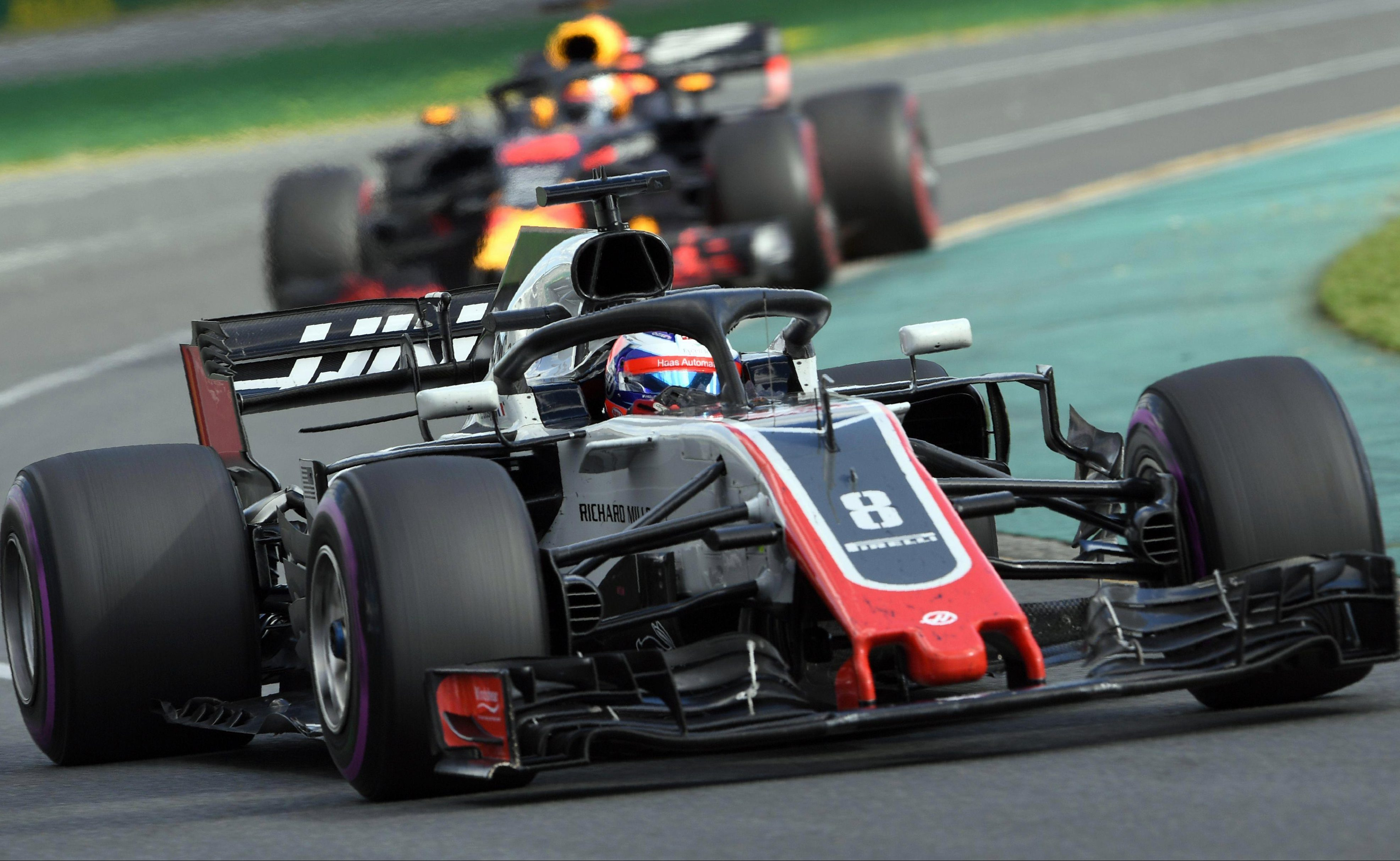 Grosjean looked in good nick in the Australian GP after starting in seventh place on the grid