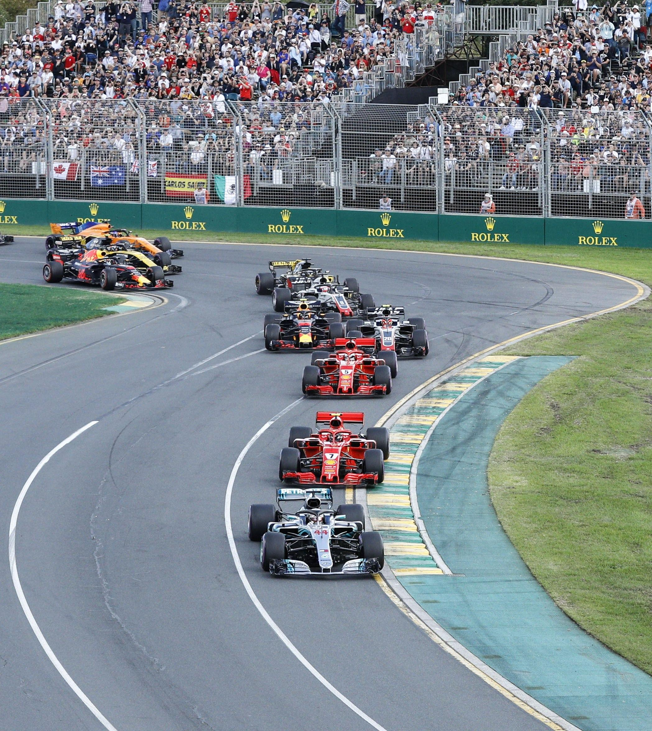 Lewis Hamilton led for the first 26 laps of the race before heading for the pit-stop