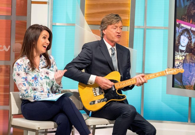Richard Madeley was compared to Alan Patridge again today after he tried to outplay Def Leppard star Joe on the guitar